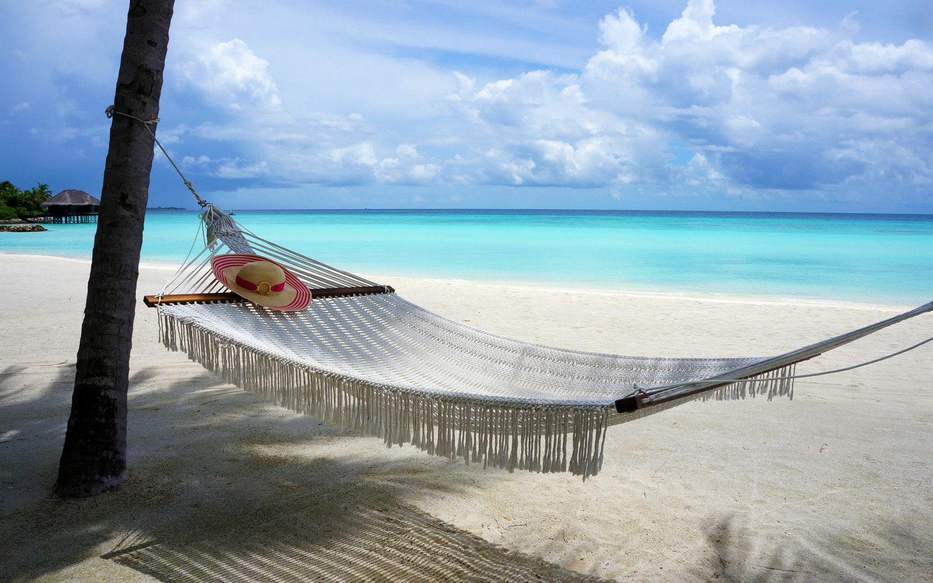 Wallpaper : 1920x1200 px, beach, clouds, hammocks, island, landscape ...