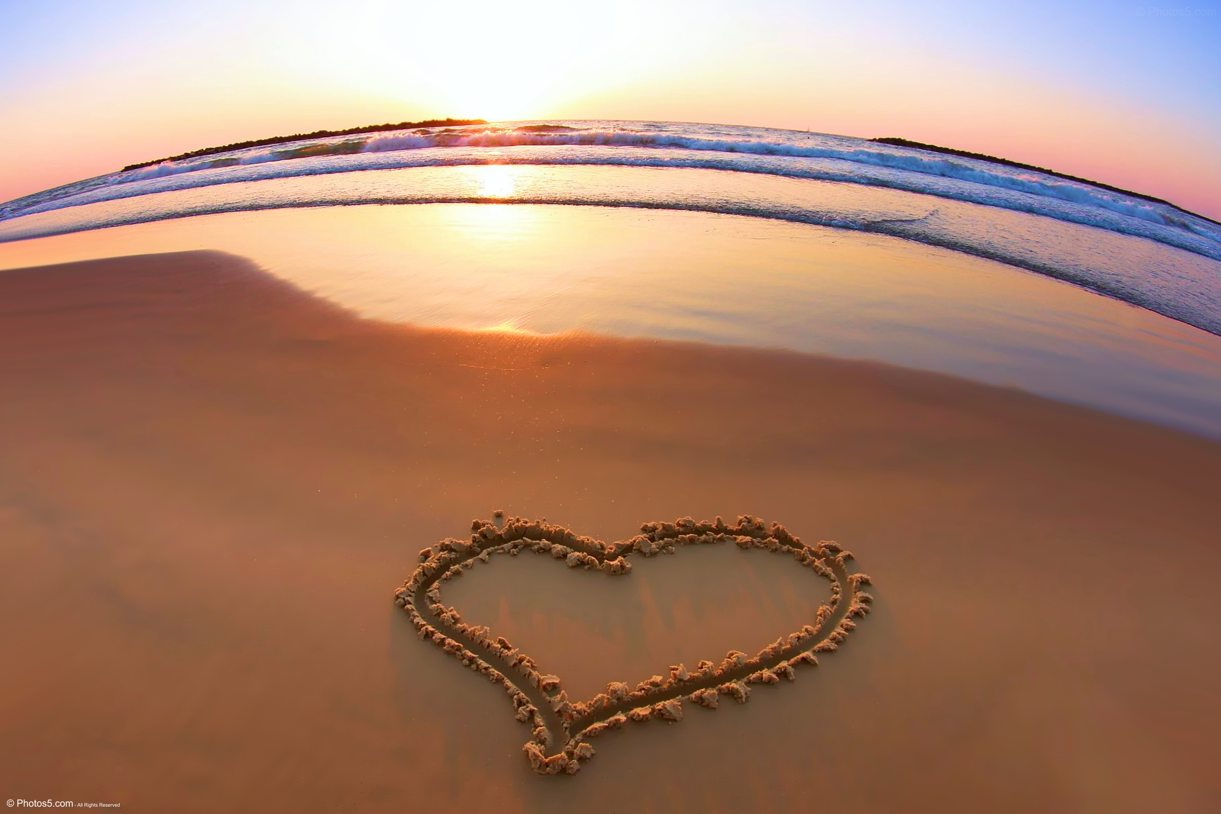 Beach heart photo