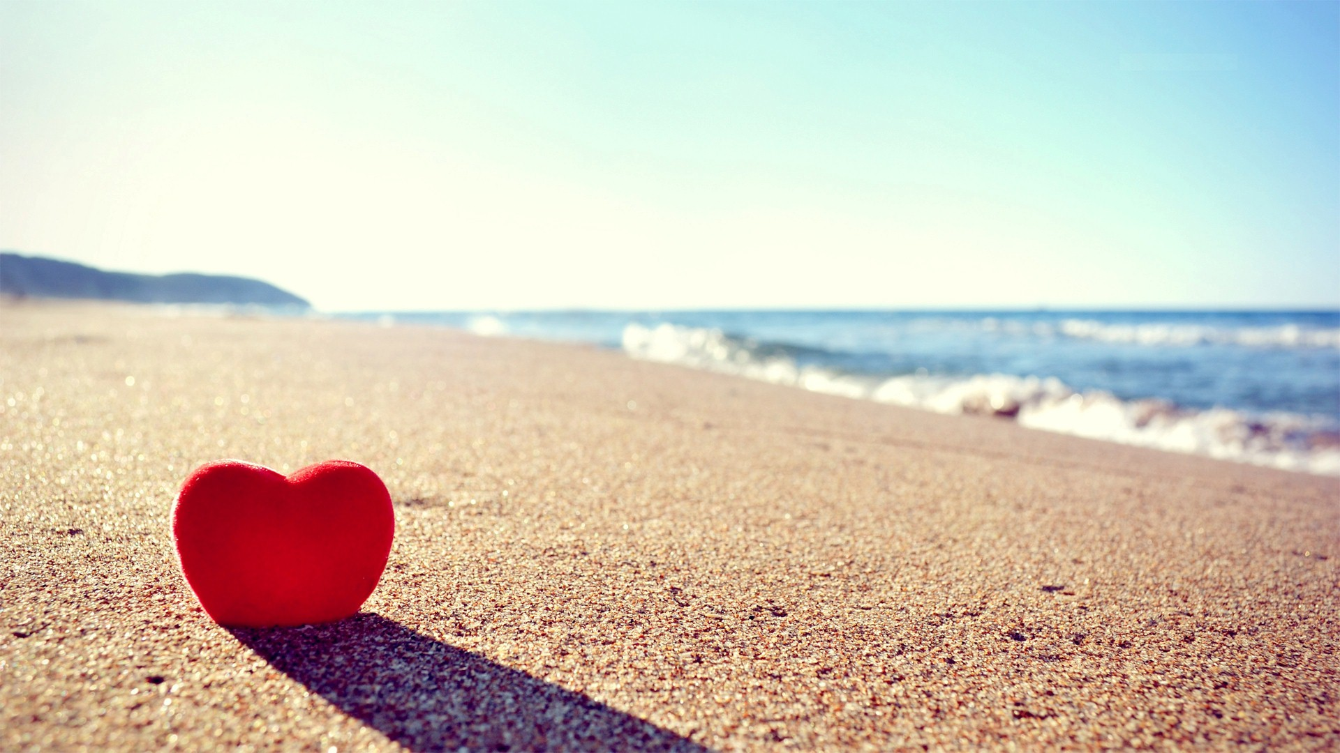 Download Love Heart On Beach Facebook Cover - FB Covers Hub