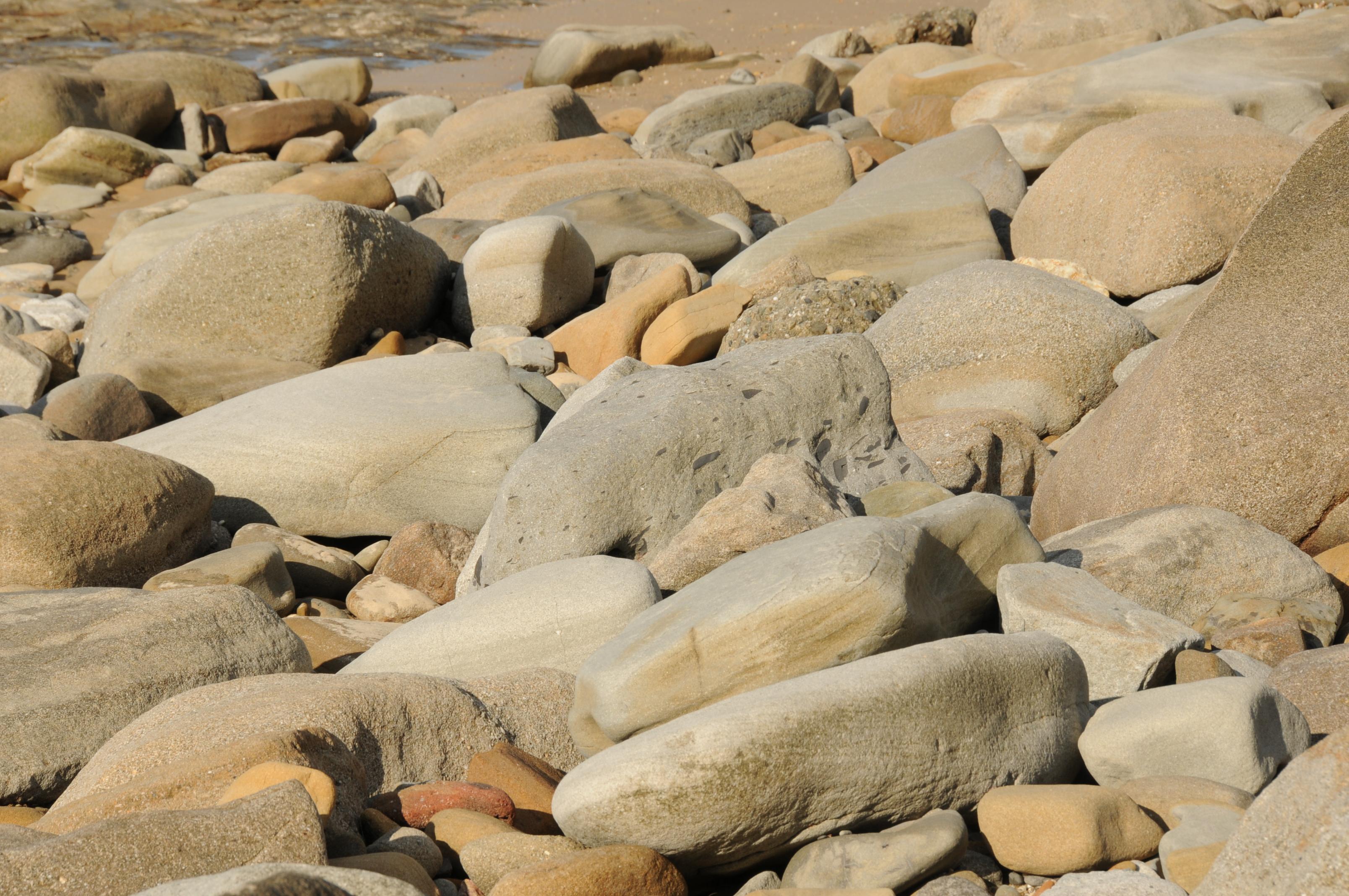Beach Rocks, Beach, Rocks, Stones, HQ Photo