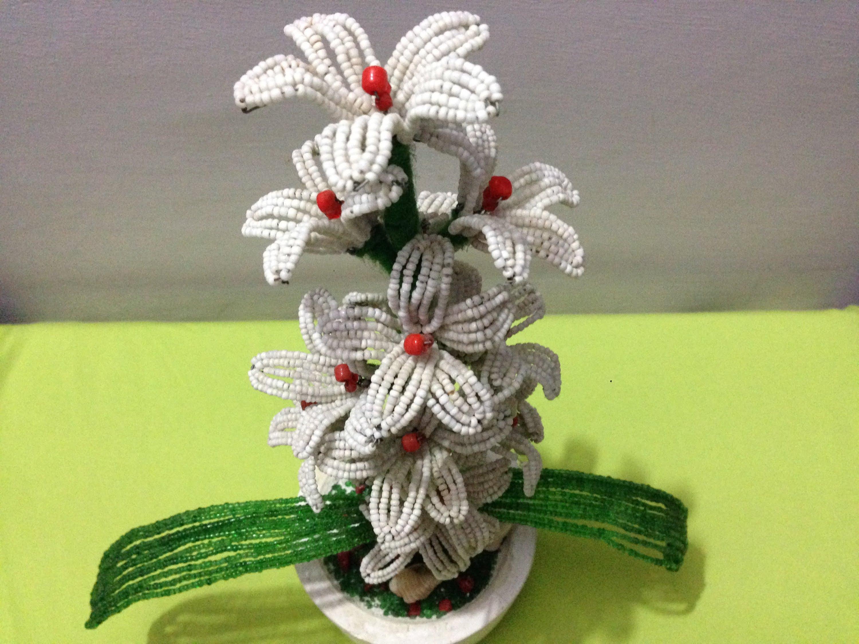 How to make beads flower pot | DIY | beaded flower tutorial | Beads ...