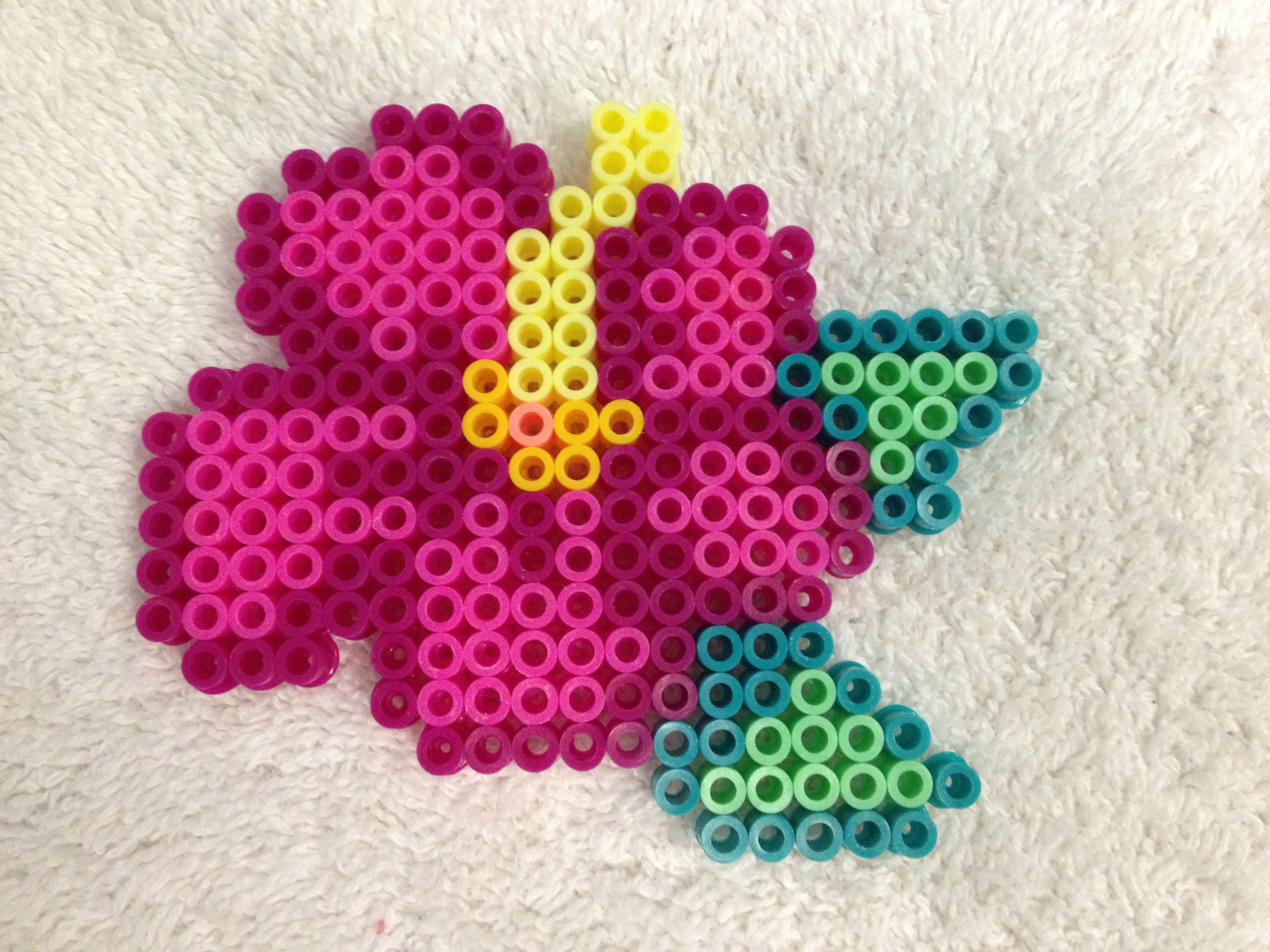 Perler Bead Flower | PLASTIC CANVAS | Pinterest | Perler beads ...