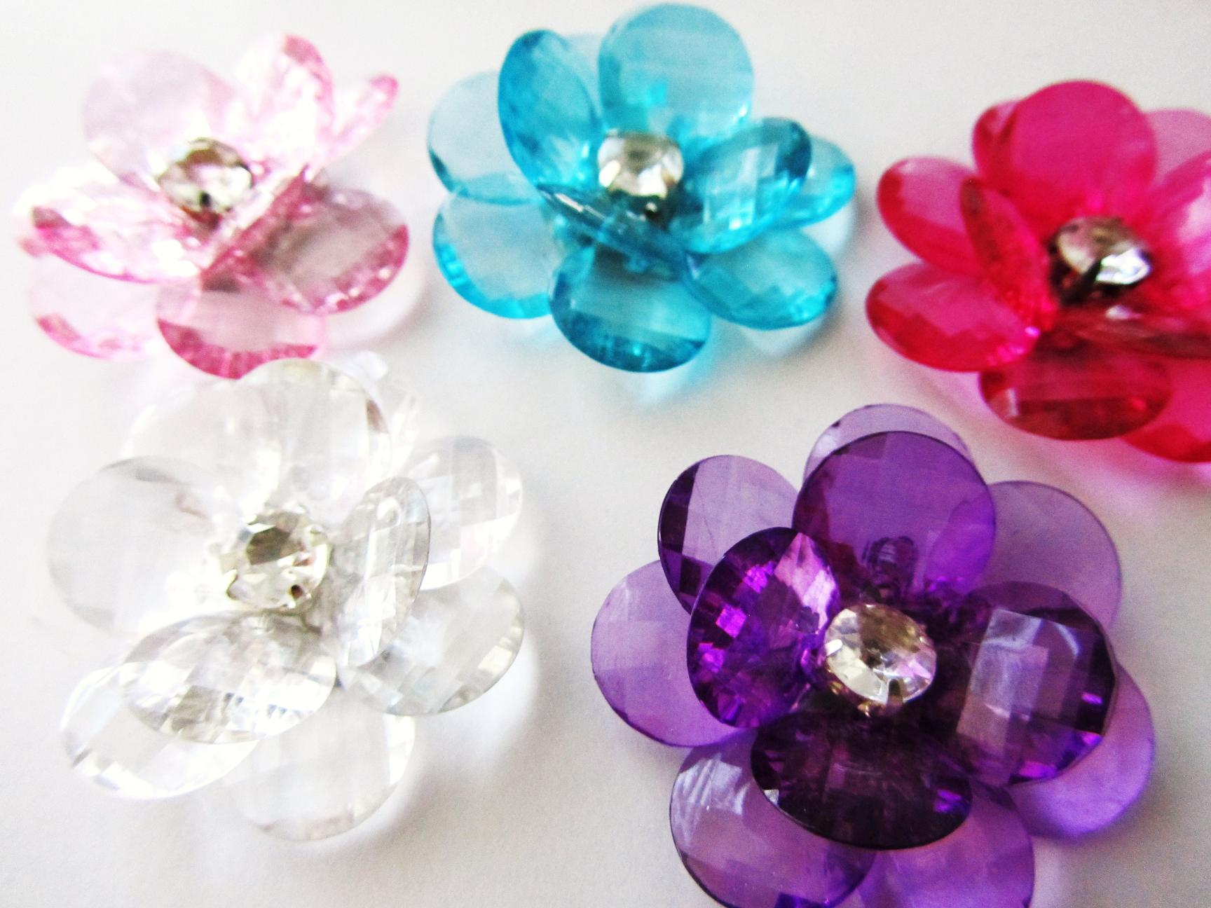 Embellishment World :: APPLIQUES :: Flower - Brooch Flower :: 10pc ...