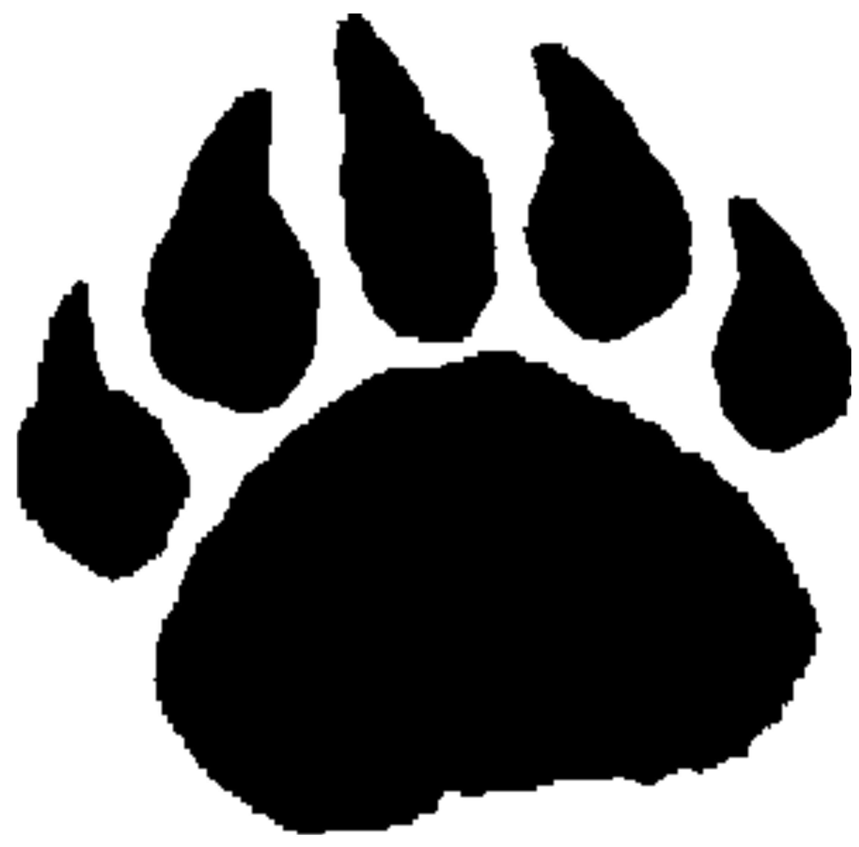Bear Paw Prints Tattoo Bear Paw Prints Clip Art - Clipartfest ...