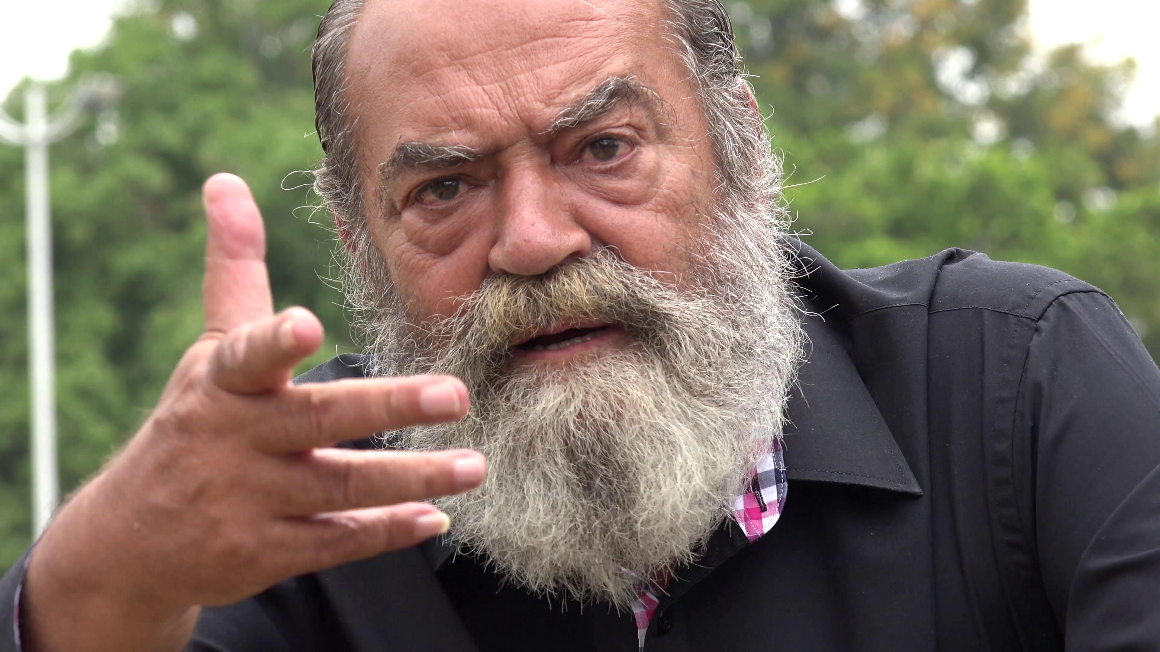 Old Bearded Man Talking Stock Video Footage - Videoblocks