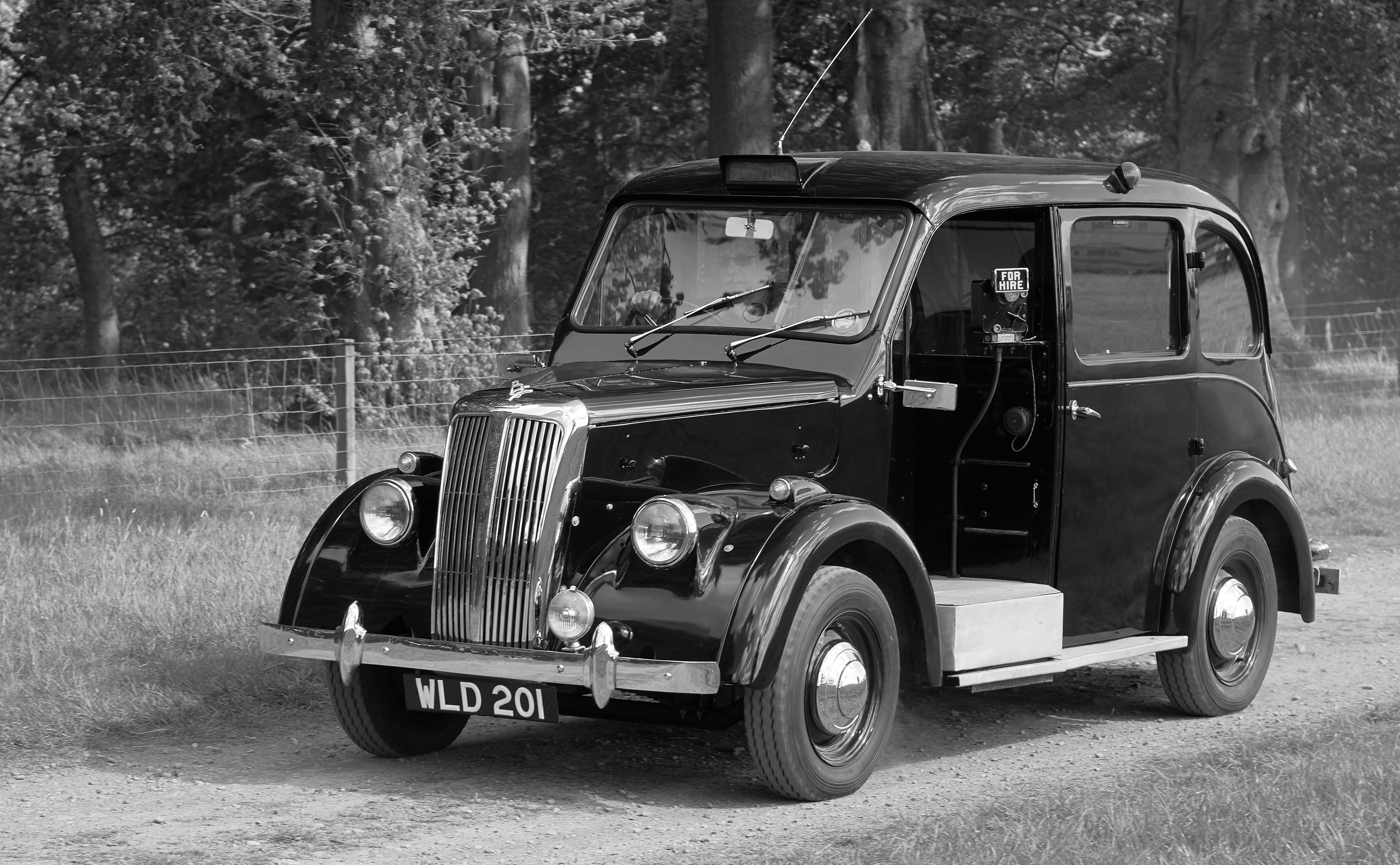 Beardmore Mk 7 Taxi, Blackandwhite, Car, Monochrome, Outdoor, HQ Photo