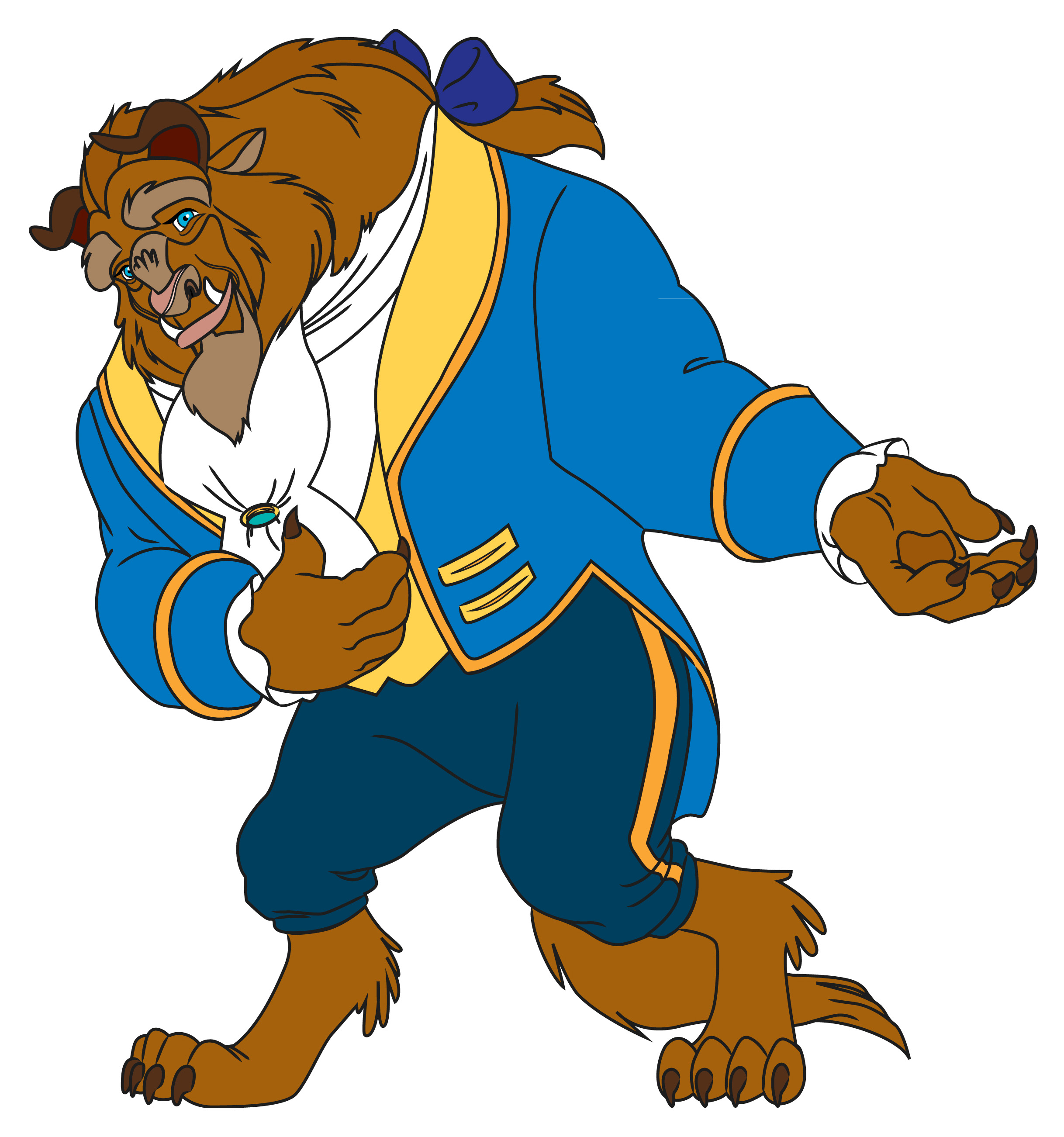How to Draw the Beast from Beauty and the Beast: 9 Steps