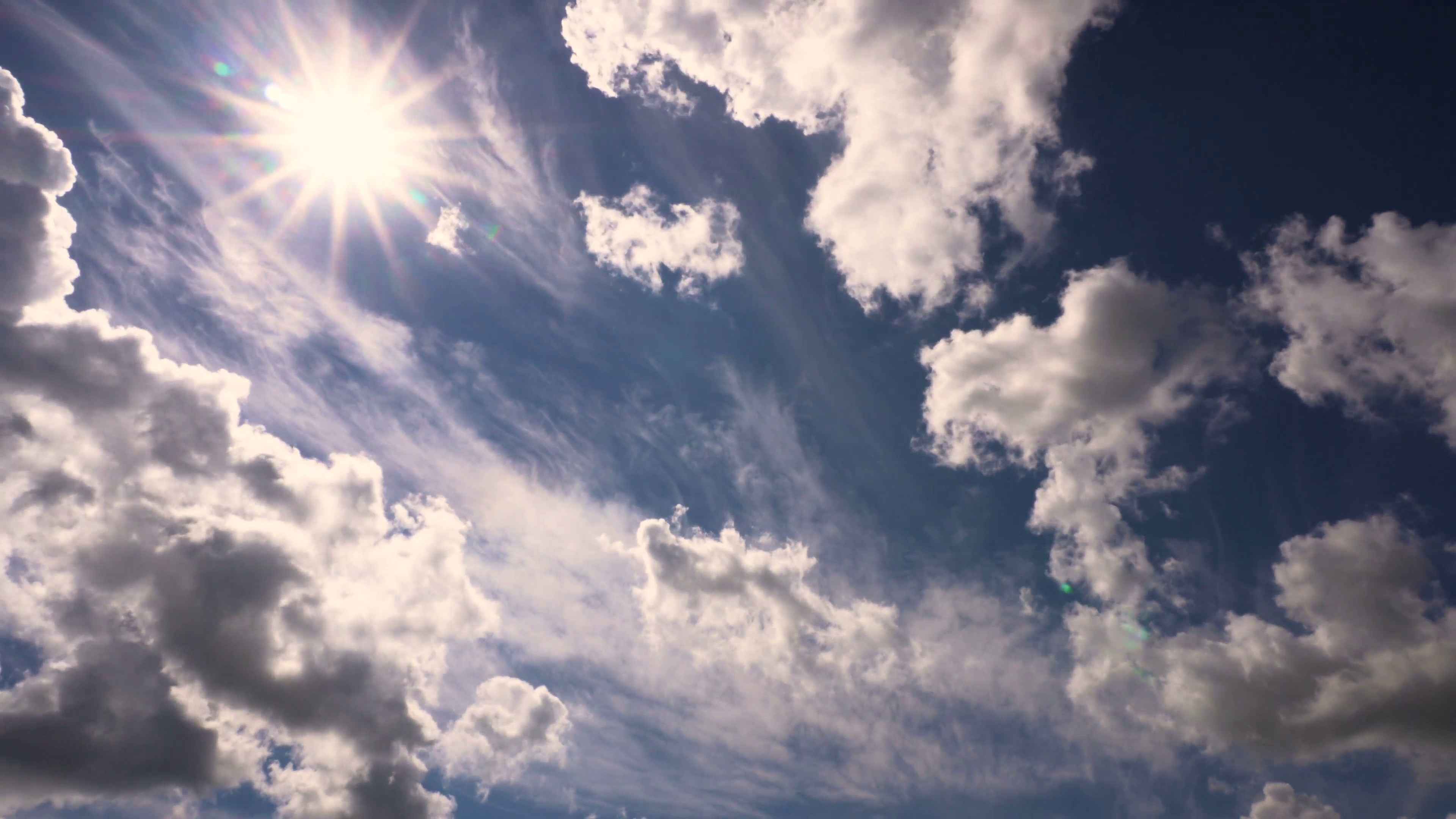 Beautiful Clouds and Sun in Summer Day Taymlaps Stock Video Footage ...