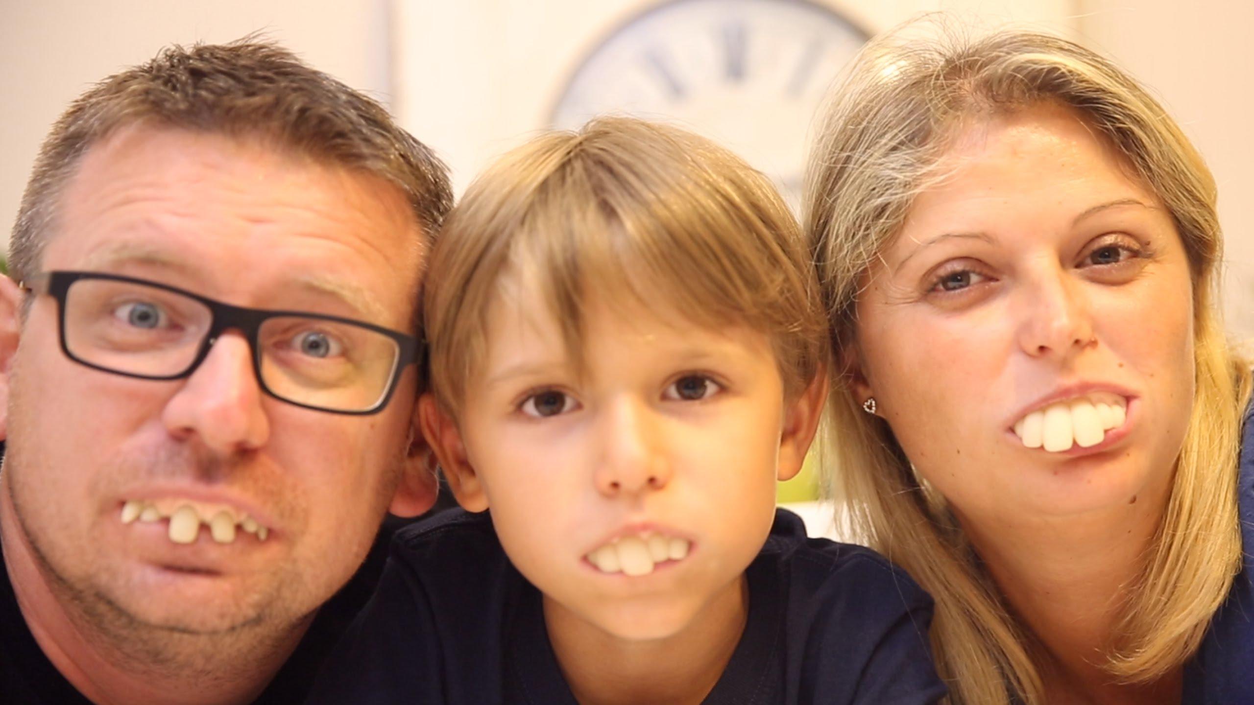 Beautiful Family - Fun Feeth Toys - YouTube