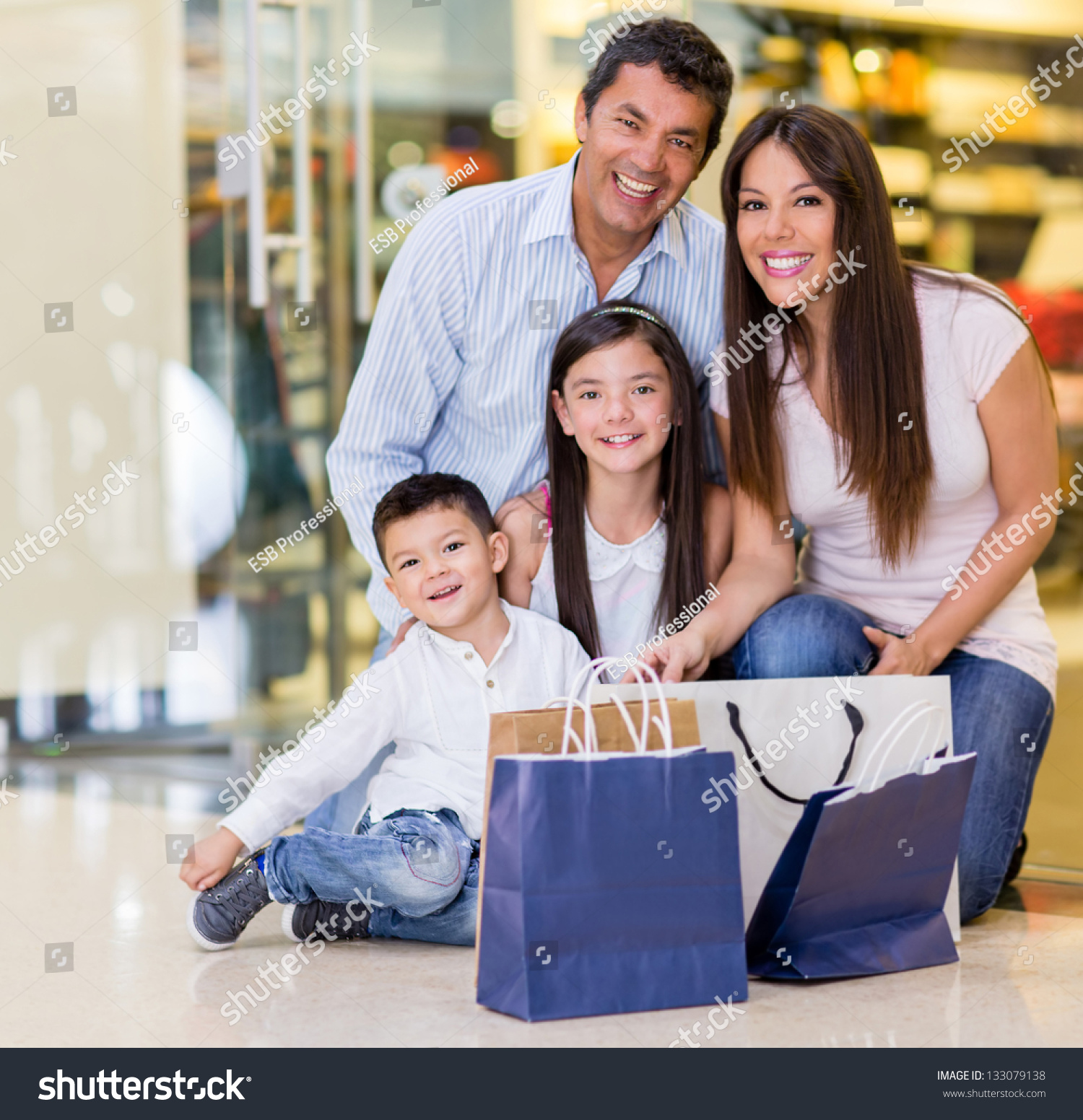 Beautiful Family Shopping Mall Looking Very Stock Photo (Safe to Use ...