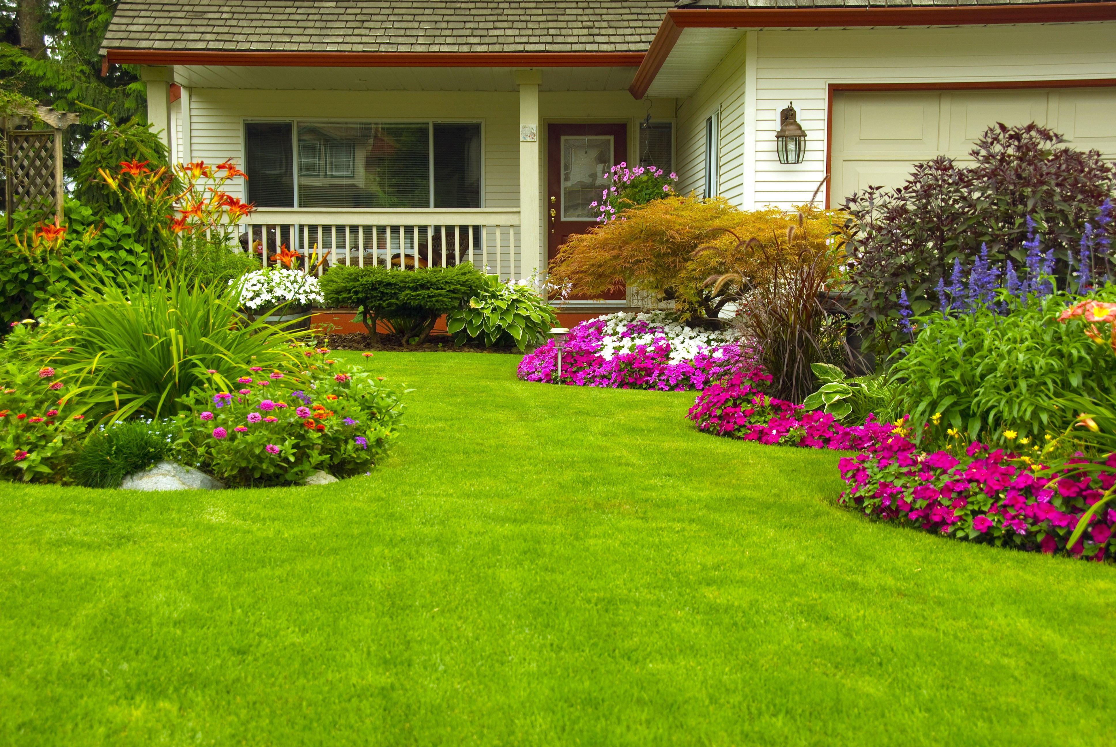 Beautiful Garden Design Great Flower Garden Landscaping Plans Home ...