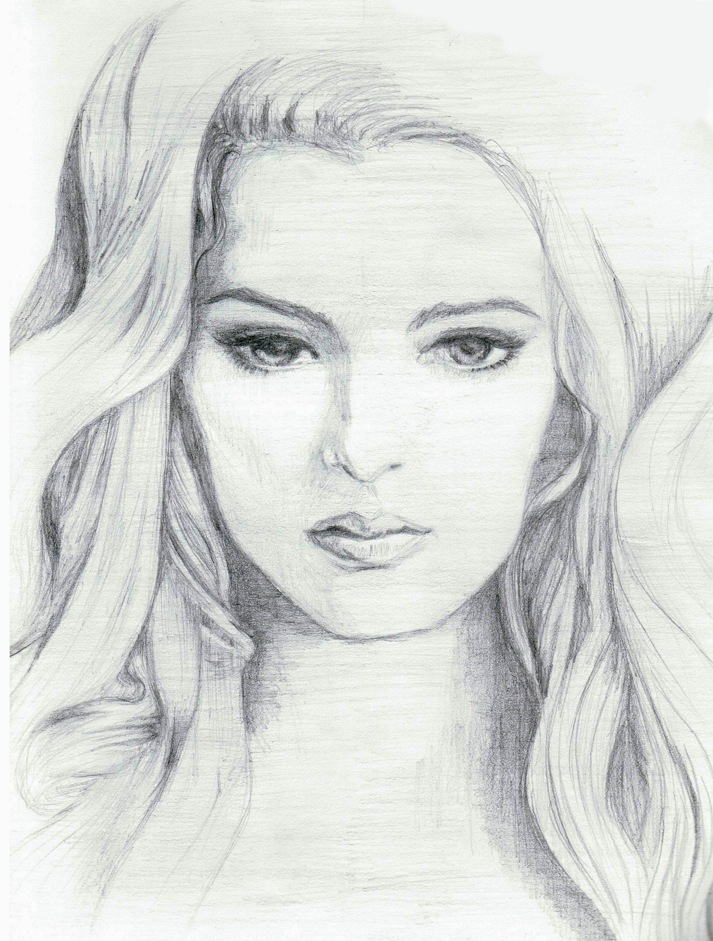 Beautiful Lady Pencil Draw Pictures Beautiful Girls Face Drawing ...