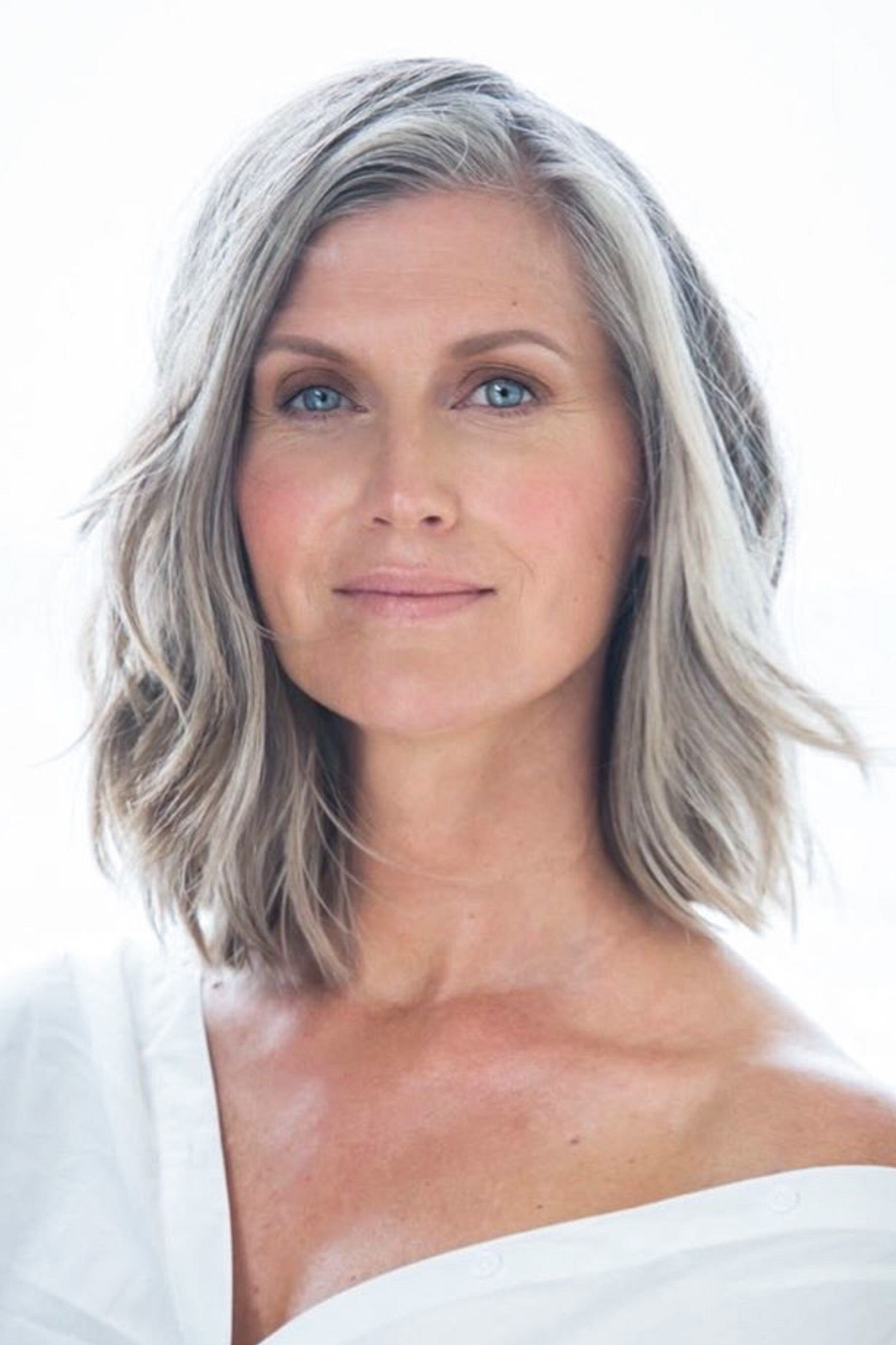 beautiful gray hair lady | Color Analysis ❁ Cool Summer Color ...
