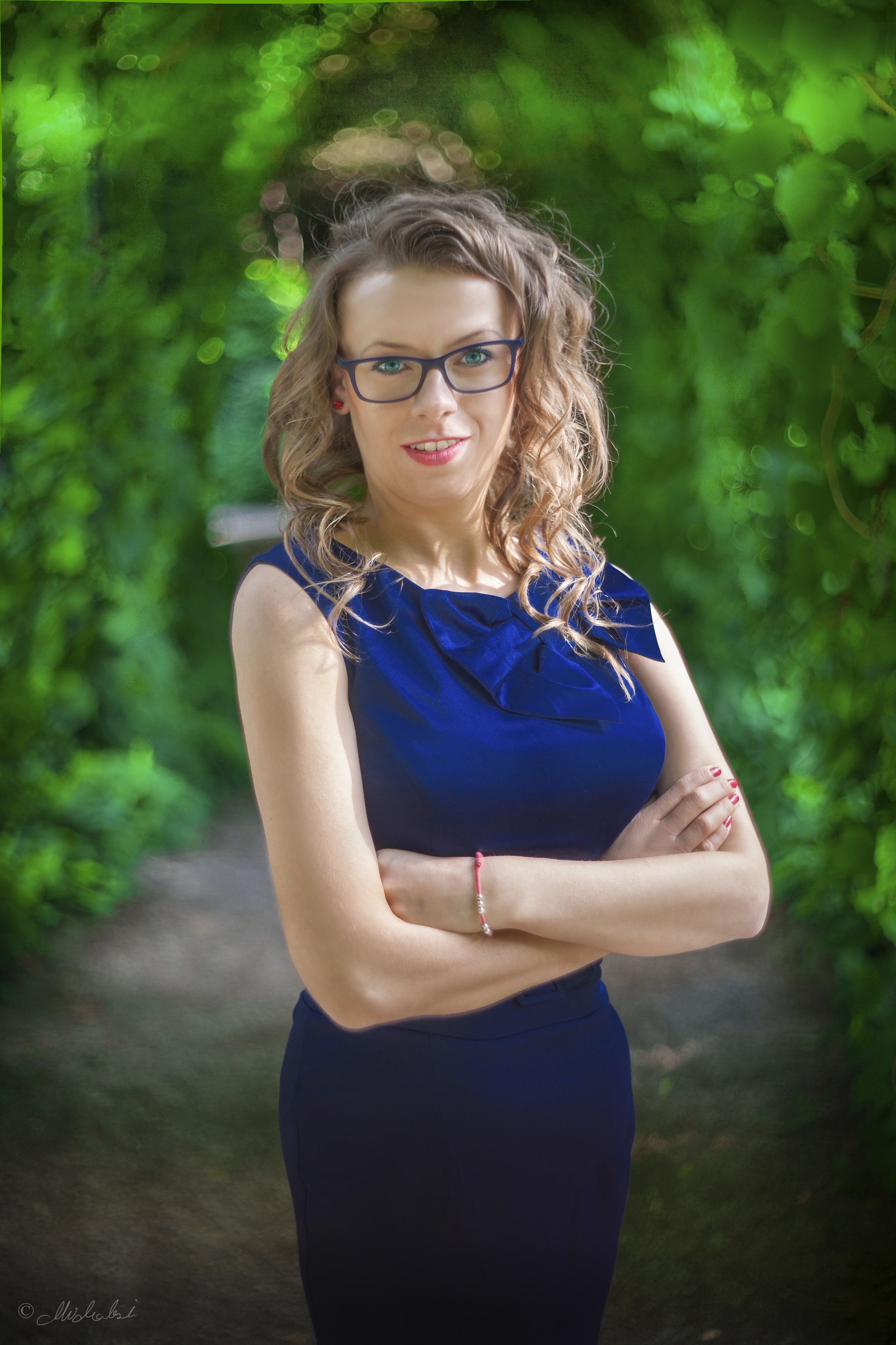 Beautiful lady in a blue dress ~ People Photos ~ Creative Market