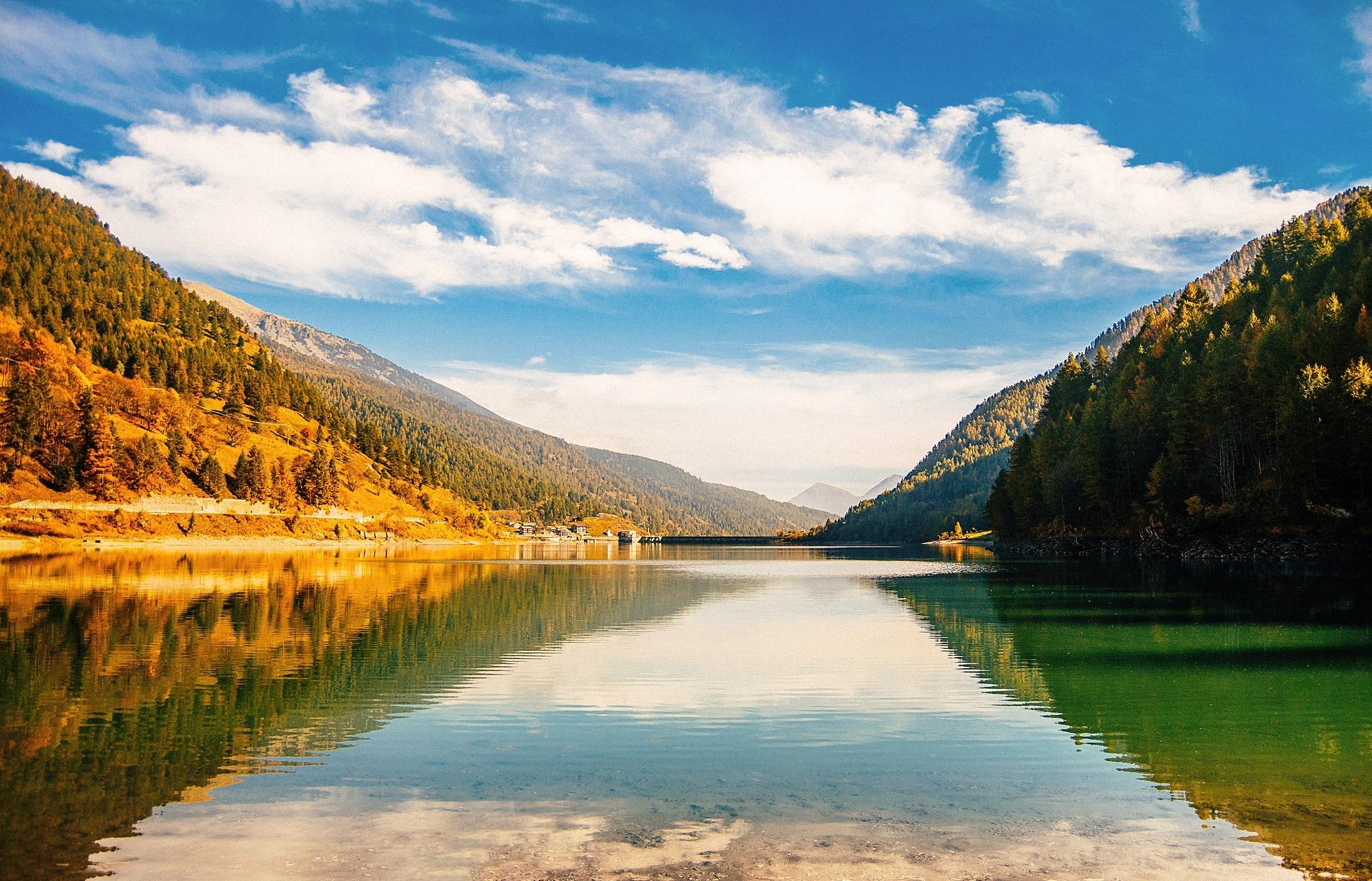 Beautiful lake photo