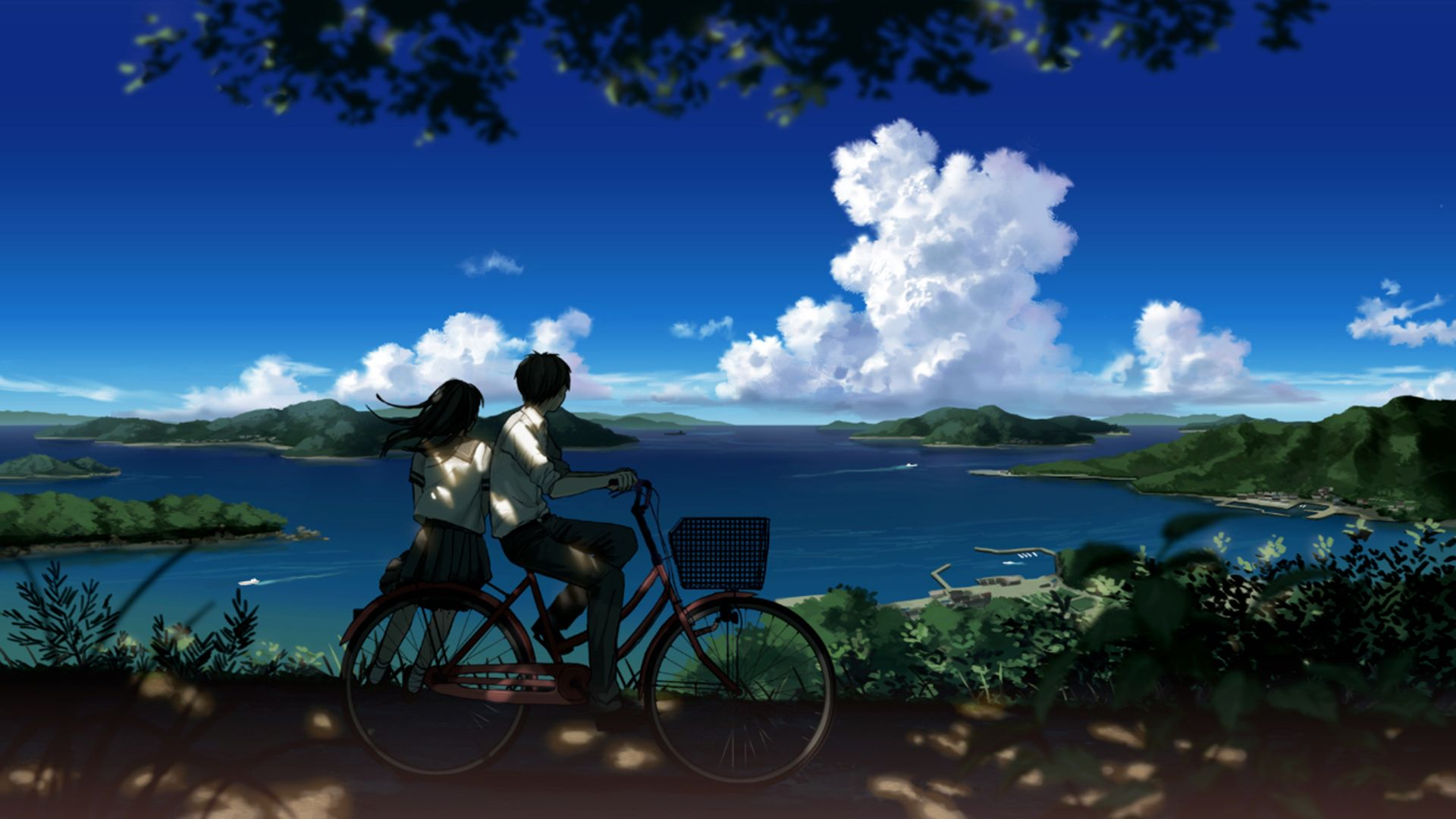 Boy And Girl Looking At Beautiful Landscape HD Wallpaper ...