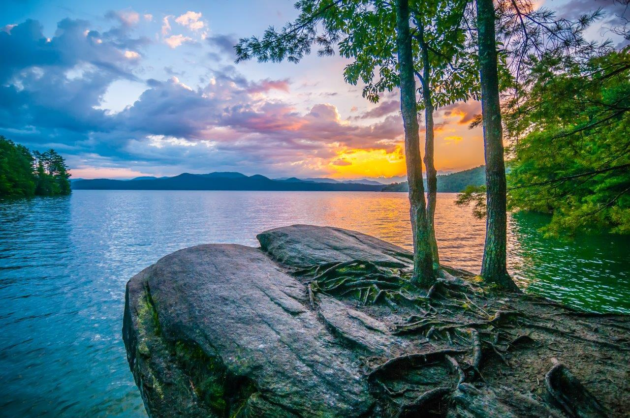 Beautiful Landscape, Trees, Vacation, Water, Sunset, HQ Photo