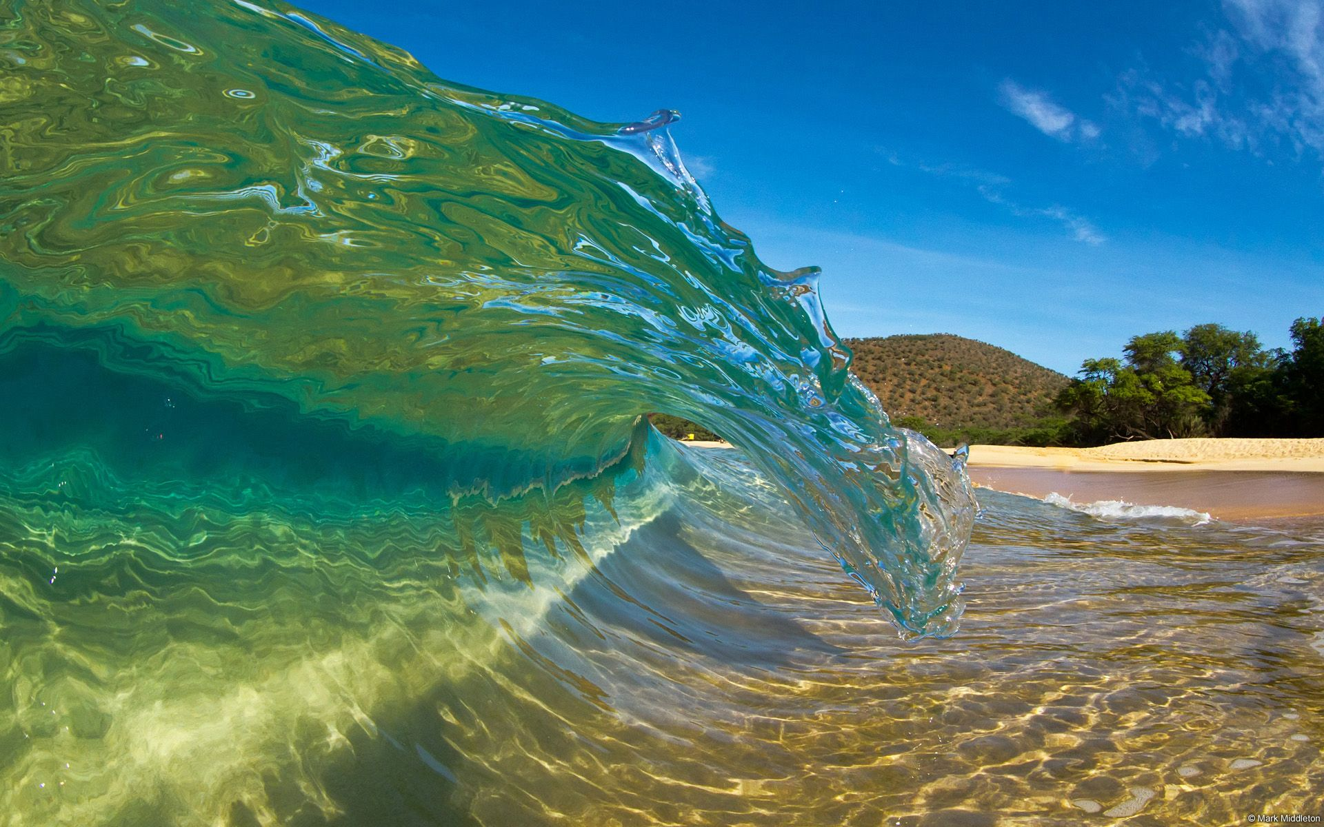 Hawaiian Beaches | Download wallpaper Wave, whirlpool, Hawaii, beach ...