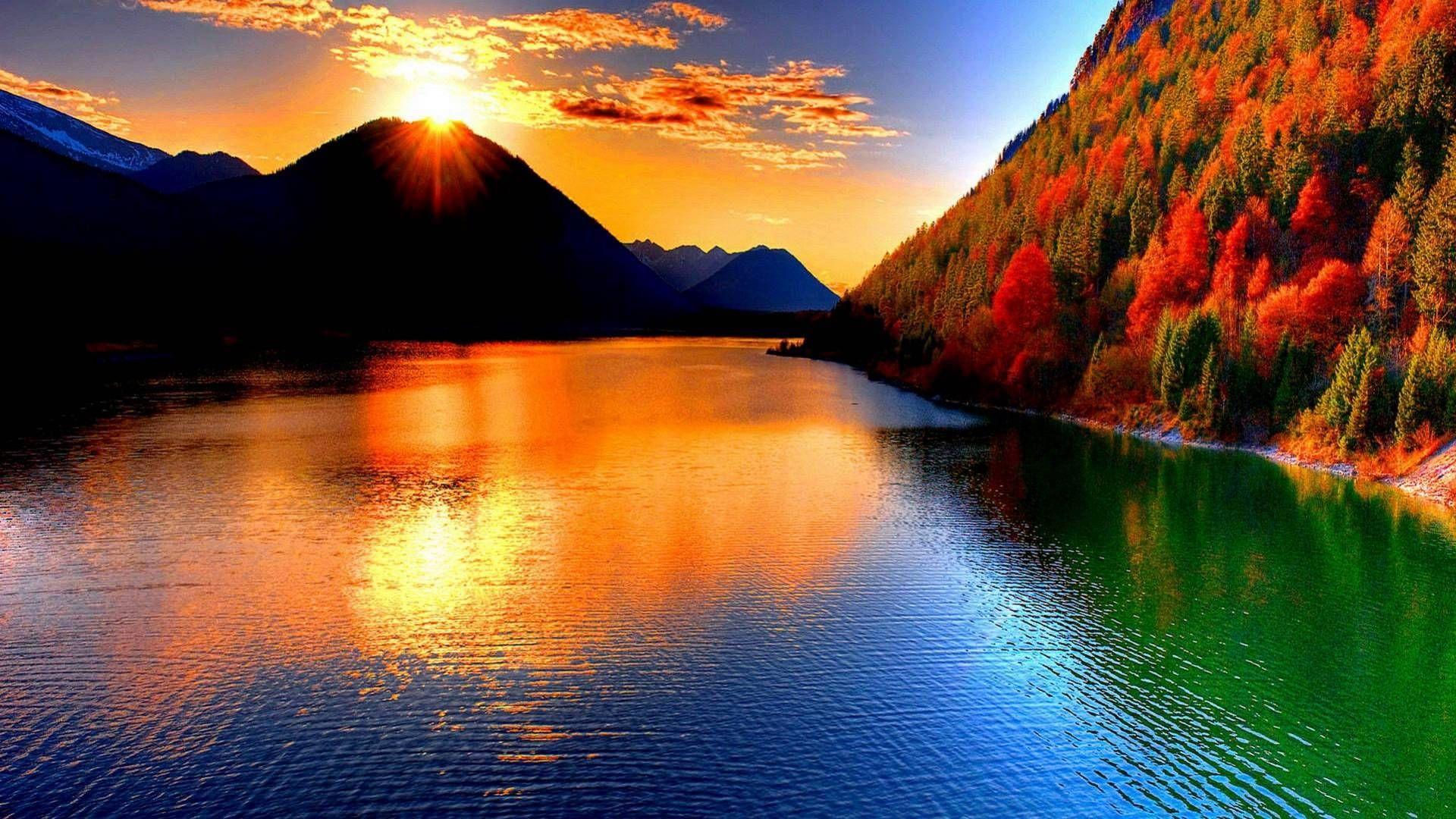 Beautiful mountains photo