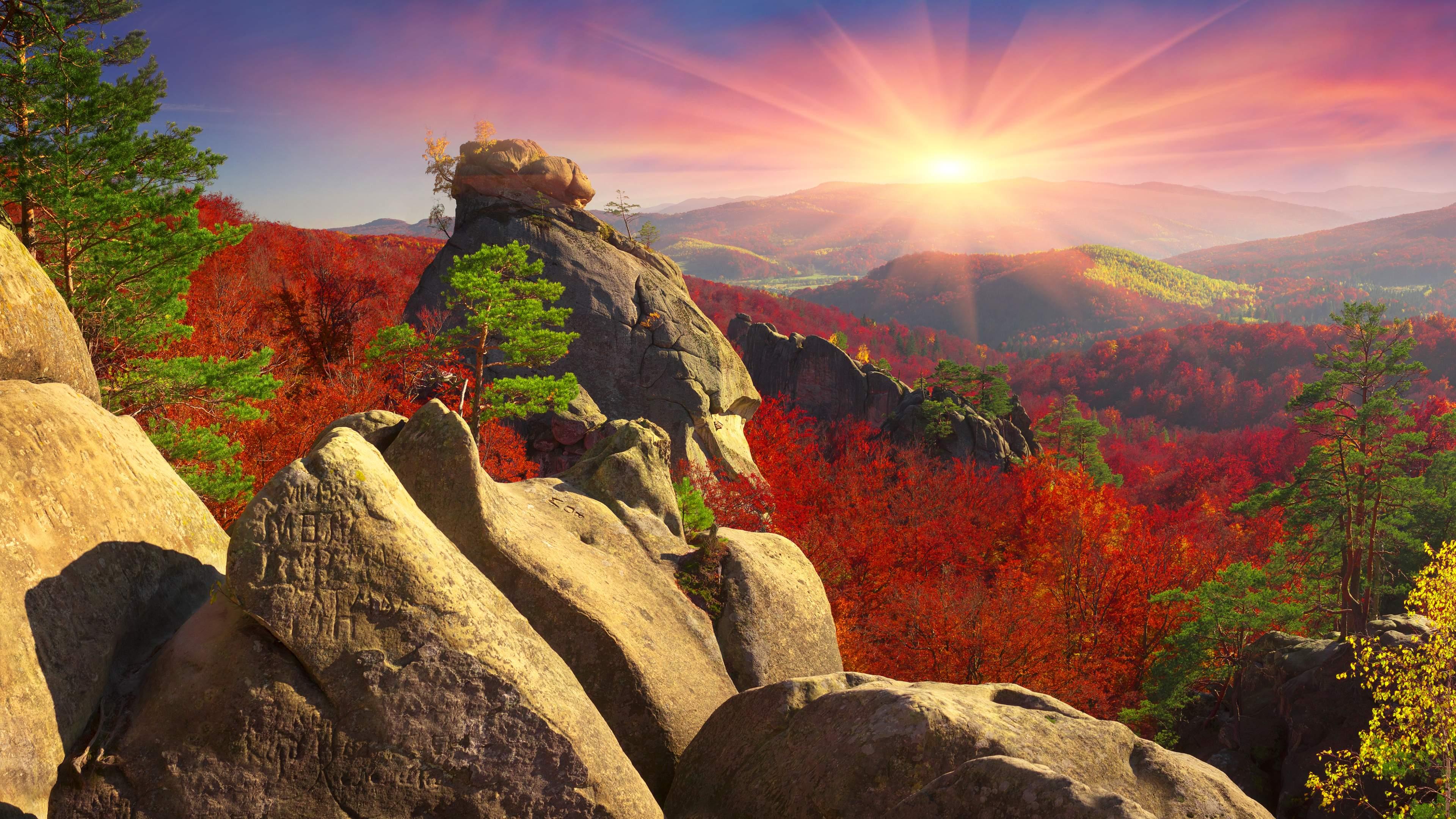 Beautiful Mountains at Sunrise 4K Wallpaper by ROGUE-RATTLESNAKE on ...