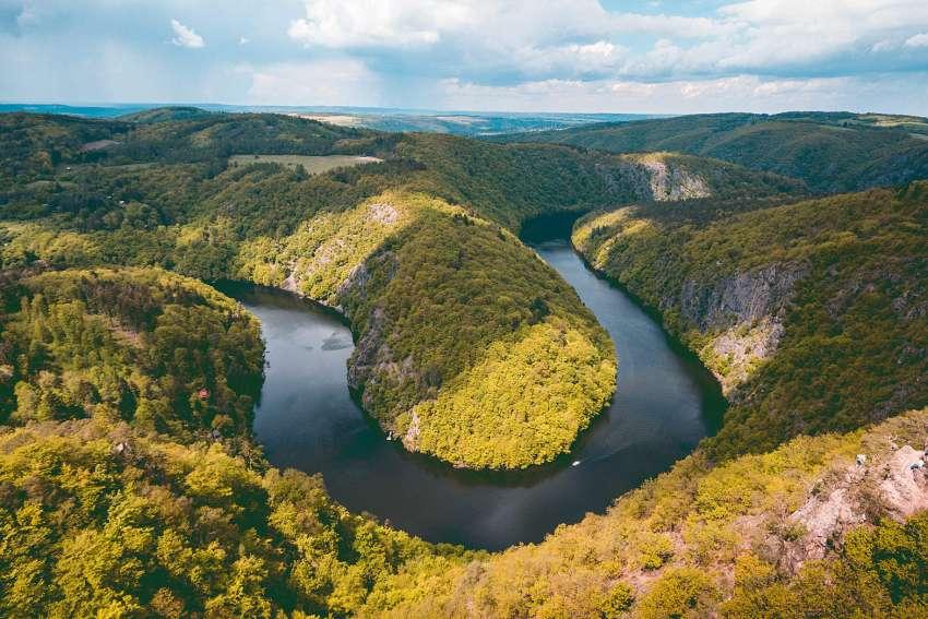 Beautiful river in the Czech Republic, Beautiful river in the Czech Republic