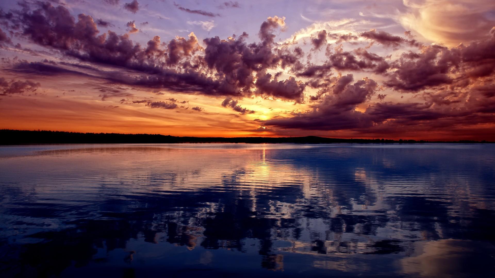 Beautiful sky in sunset wallpaper | AllWallpaper.in #16541 | PC | en