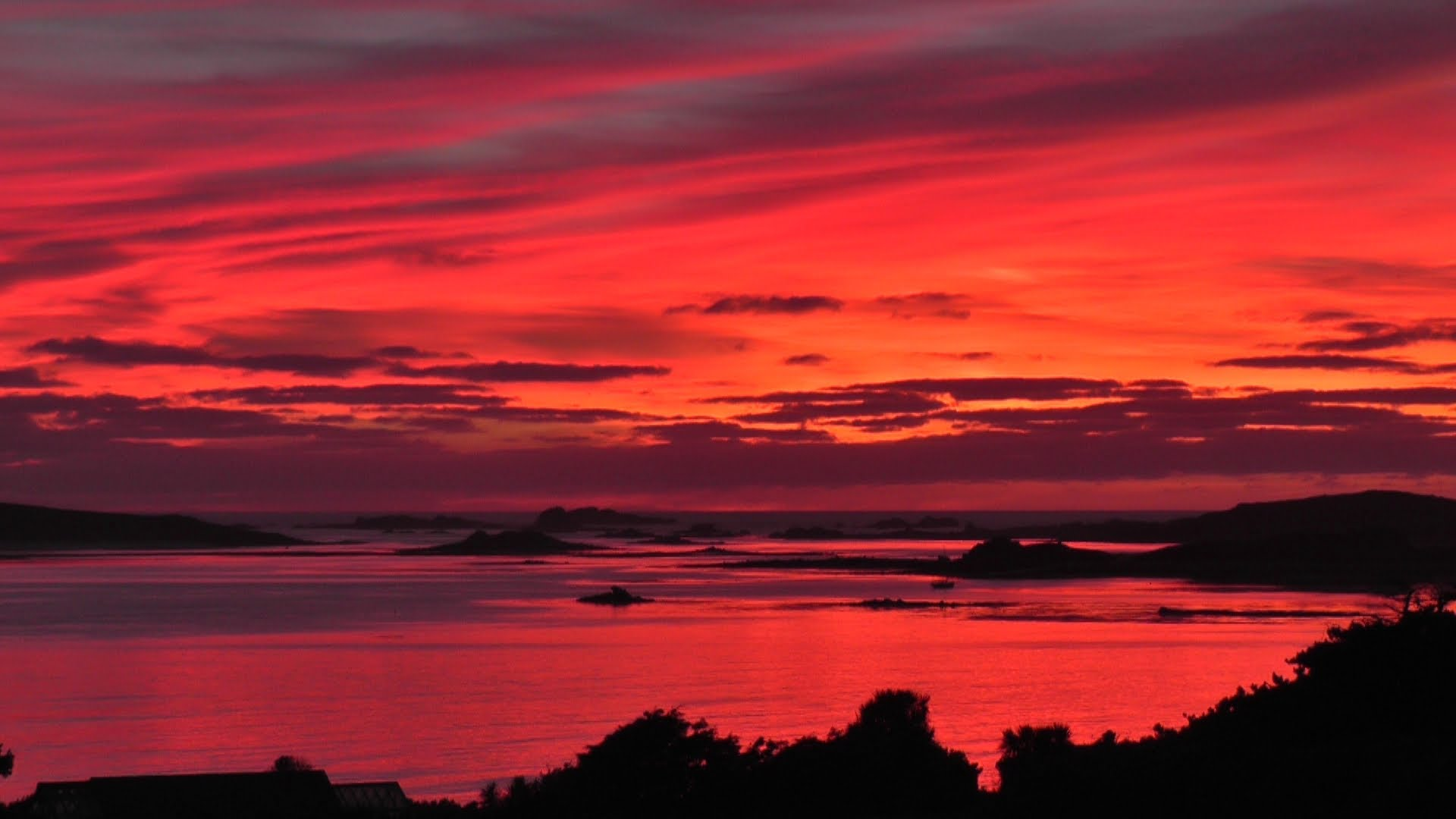 The Most Beautiful Sunset and Red Sky in The World Ever - Isles of ...