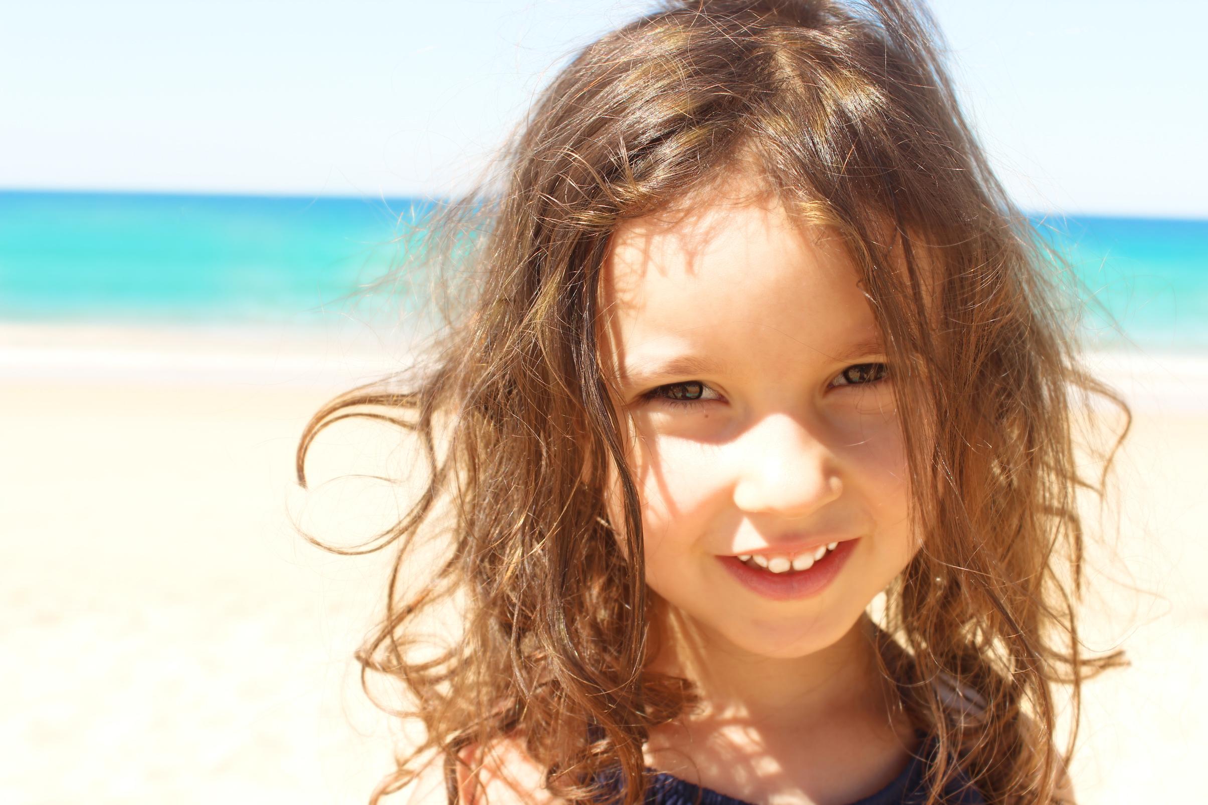 Beautiful sweet girl smiling photo