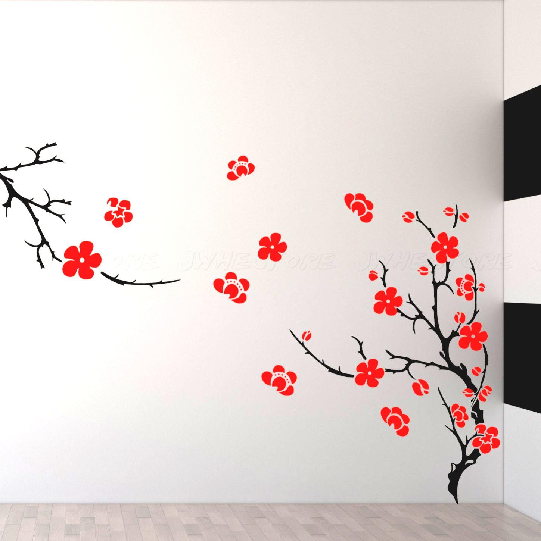 Decorating: Beautiful Wall Art Flowers And Laminate Wood Flooring ...