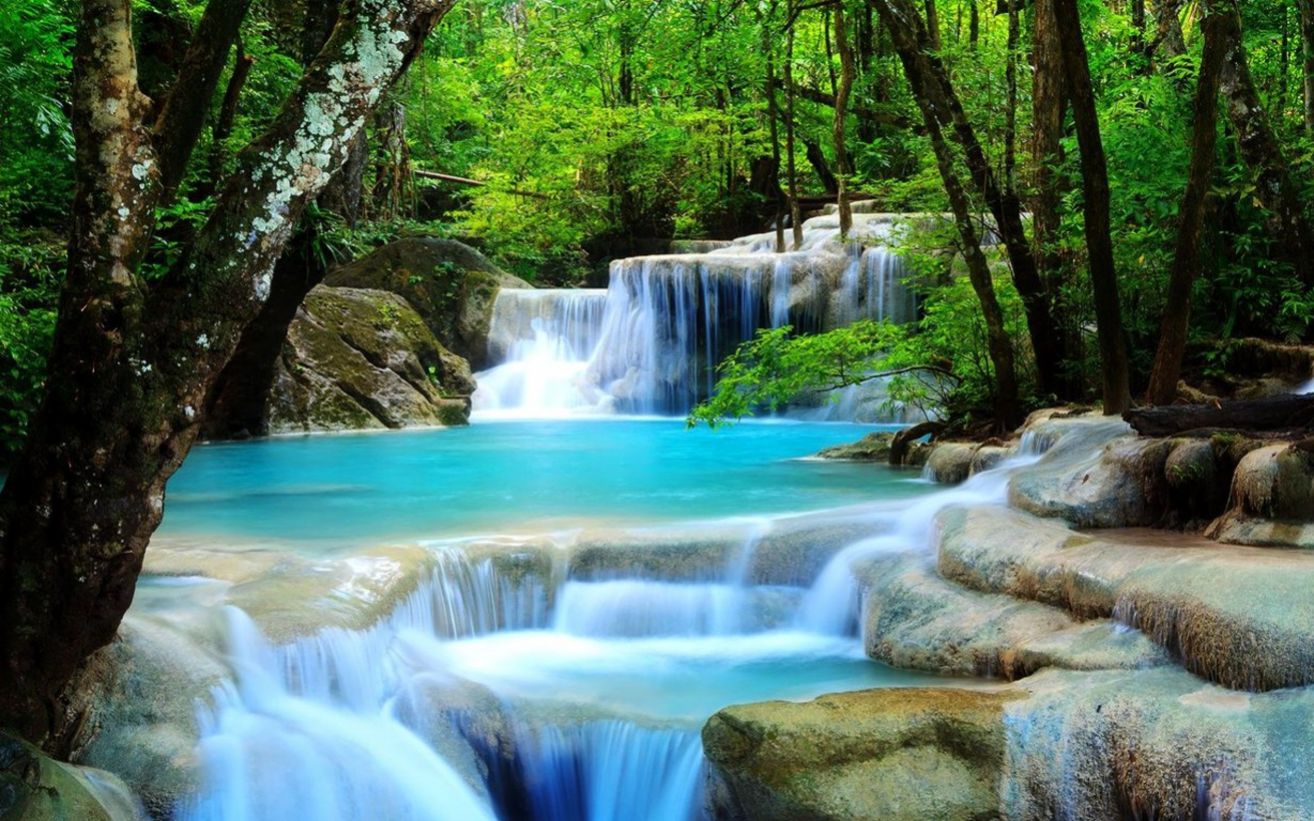 Backgrounds D Beautiful Waterfall Afari With Nature Wallpaper For ...