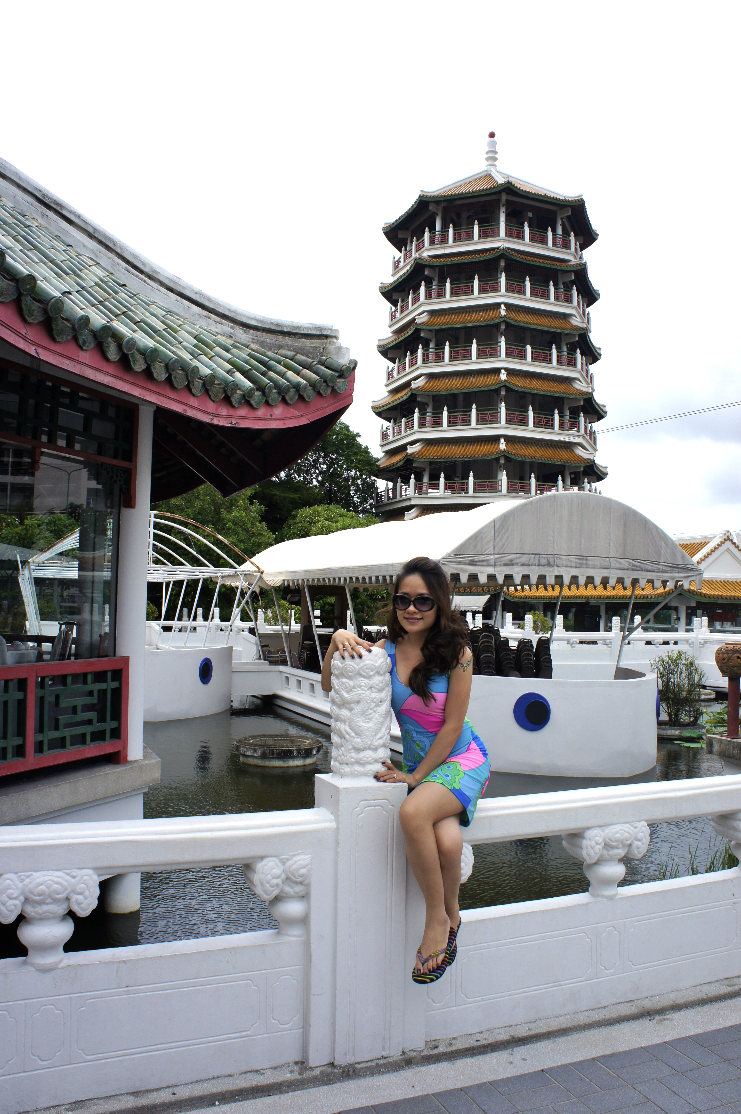 Beauty and Land, Beauty, Bridge, Tower, Woman, HQ Photo