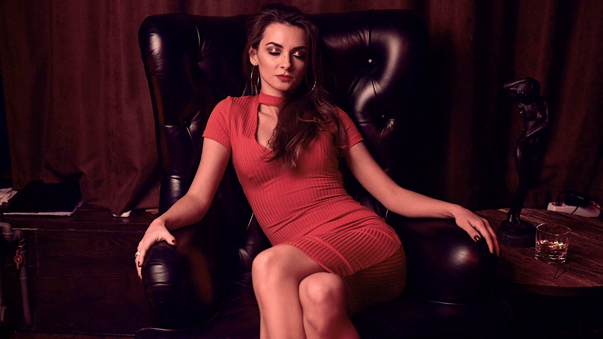 Beauty in red photo