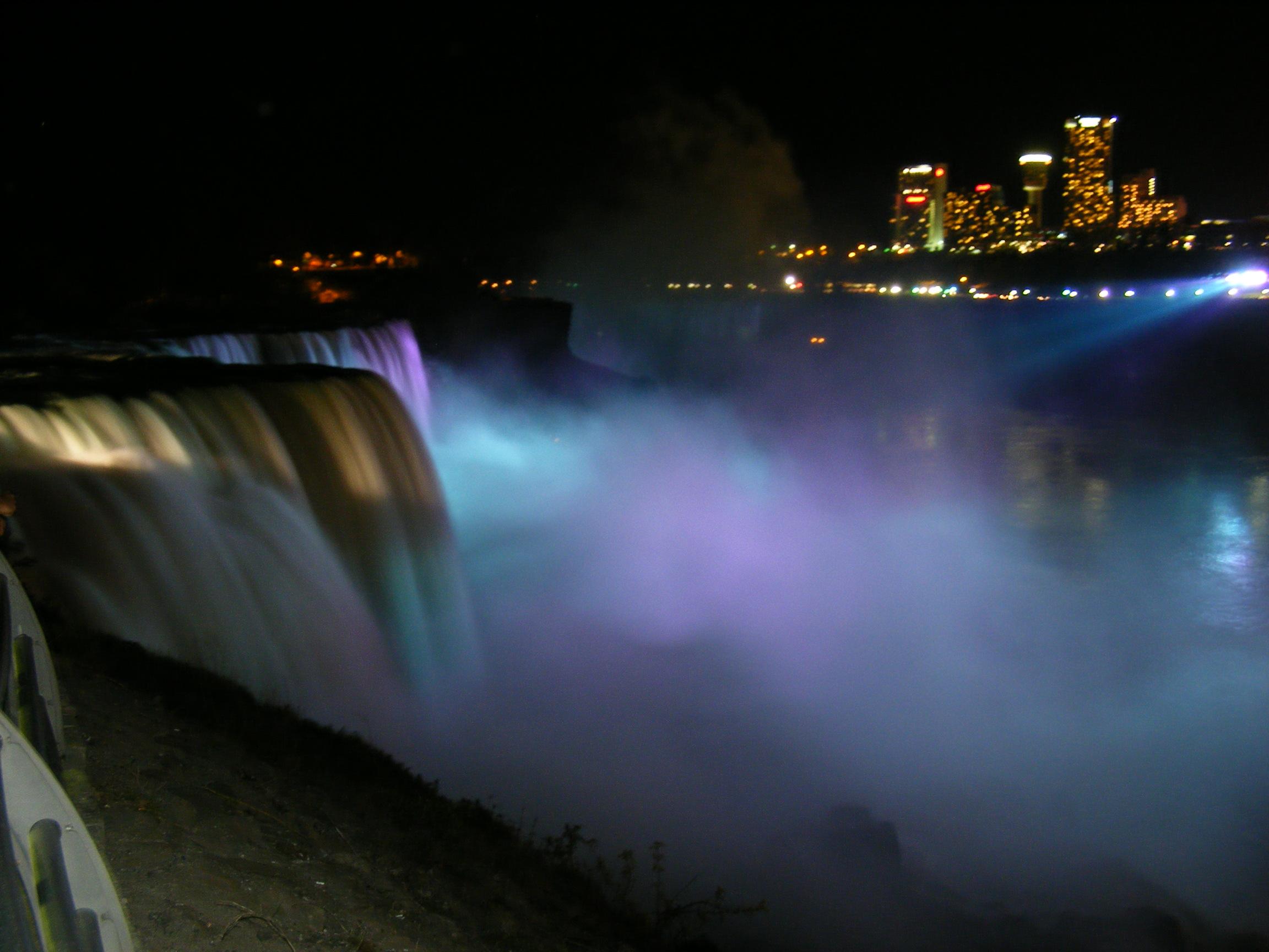 Beauty of Niagara Falls, Rushing, Niagara, Night, Park, HQ Photo