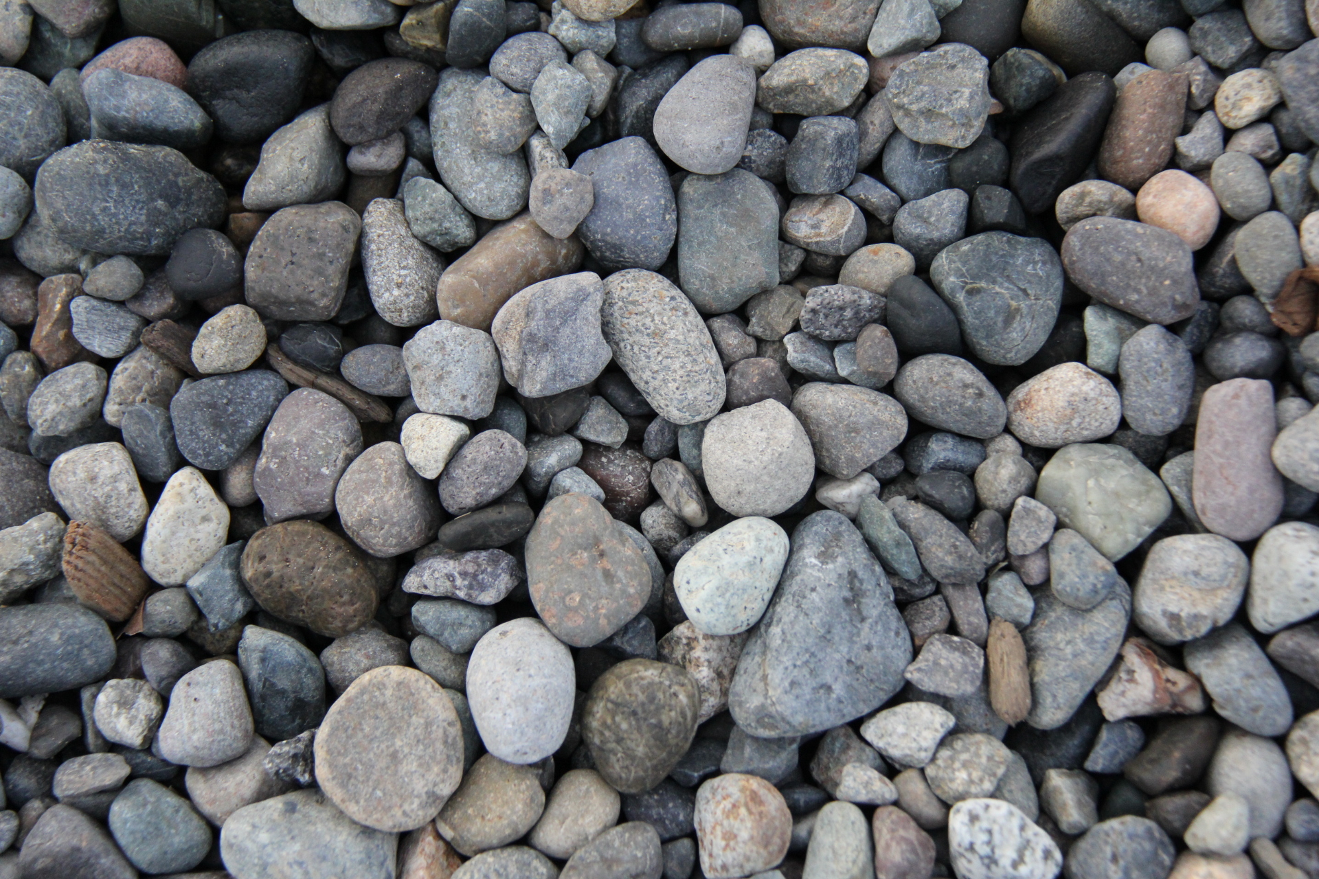 Bed of rocks photo