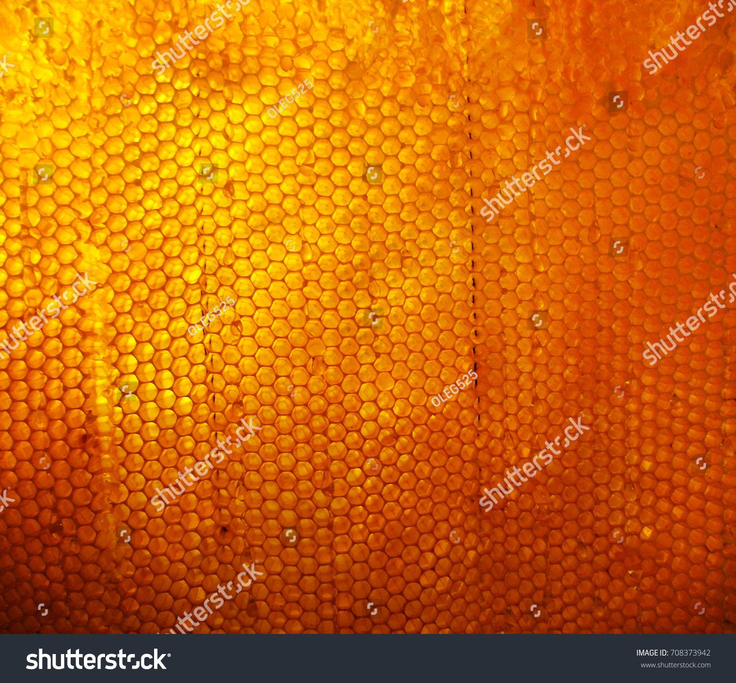Background Hexagon Texture Wax Honeycomb Bee Stock Photo 708373942 ...