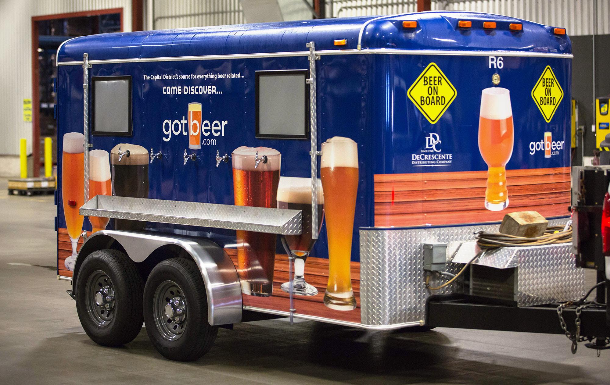 Beer Trailer Rentals   DeCrescente Distributing Company