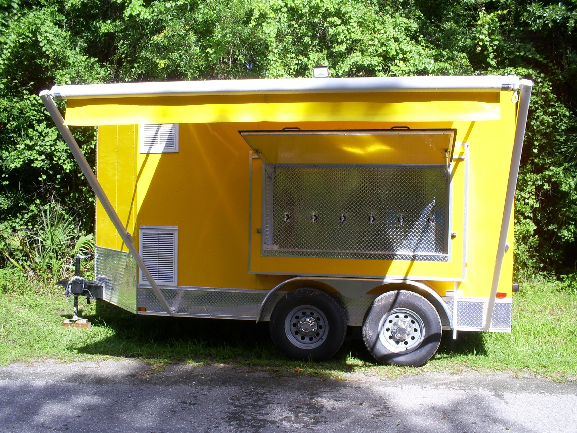 6-Tap 30-Keg refrigerated beer trailer rental Iowa: Dispensers