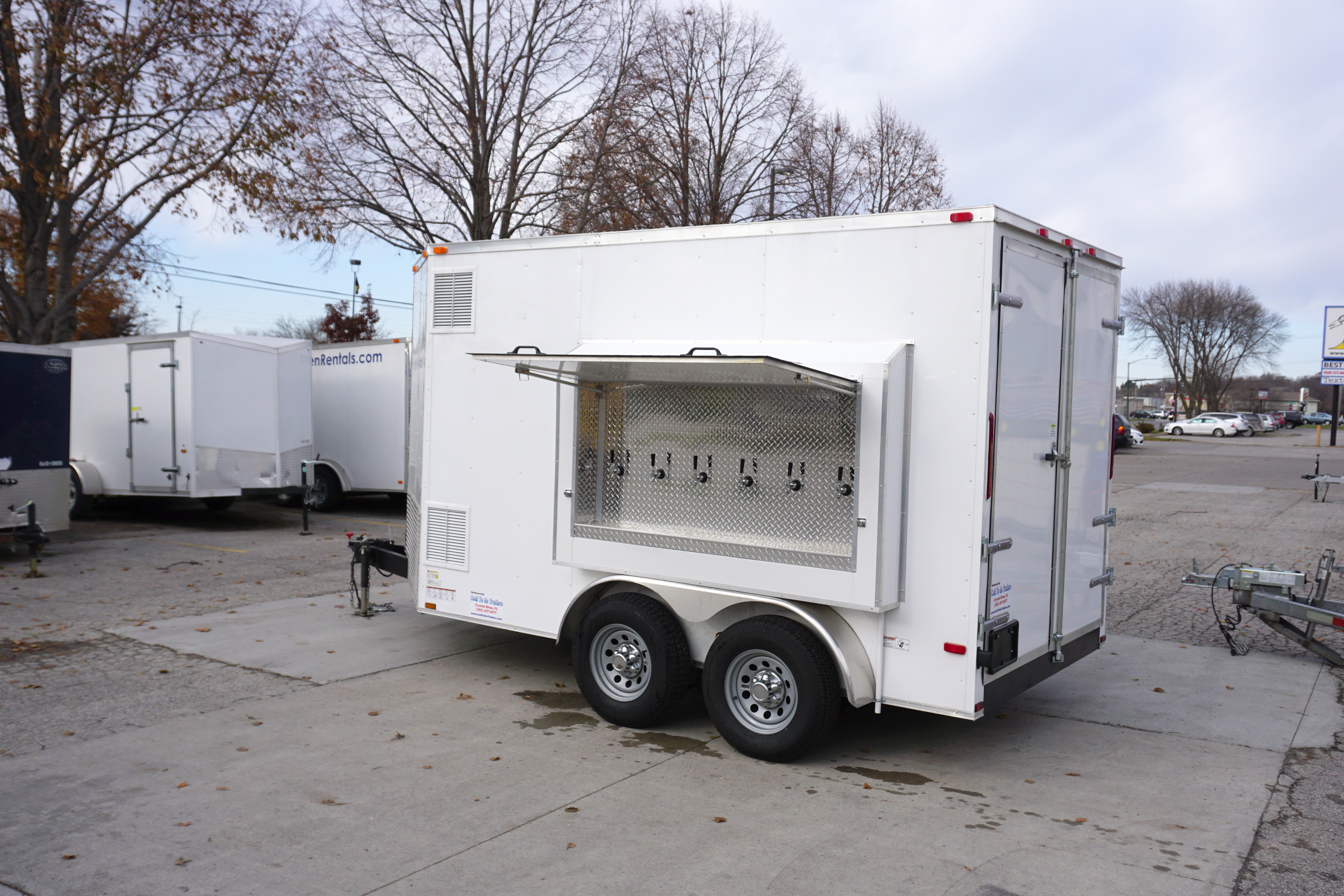 6 tap, 30 keg, Refrigerated draft beer concession trailer for rent ...