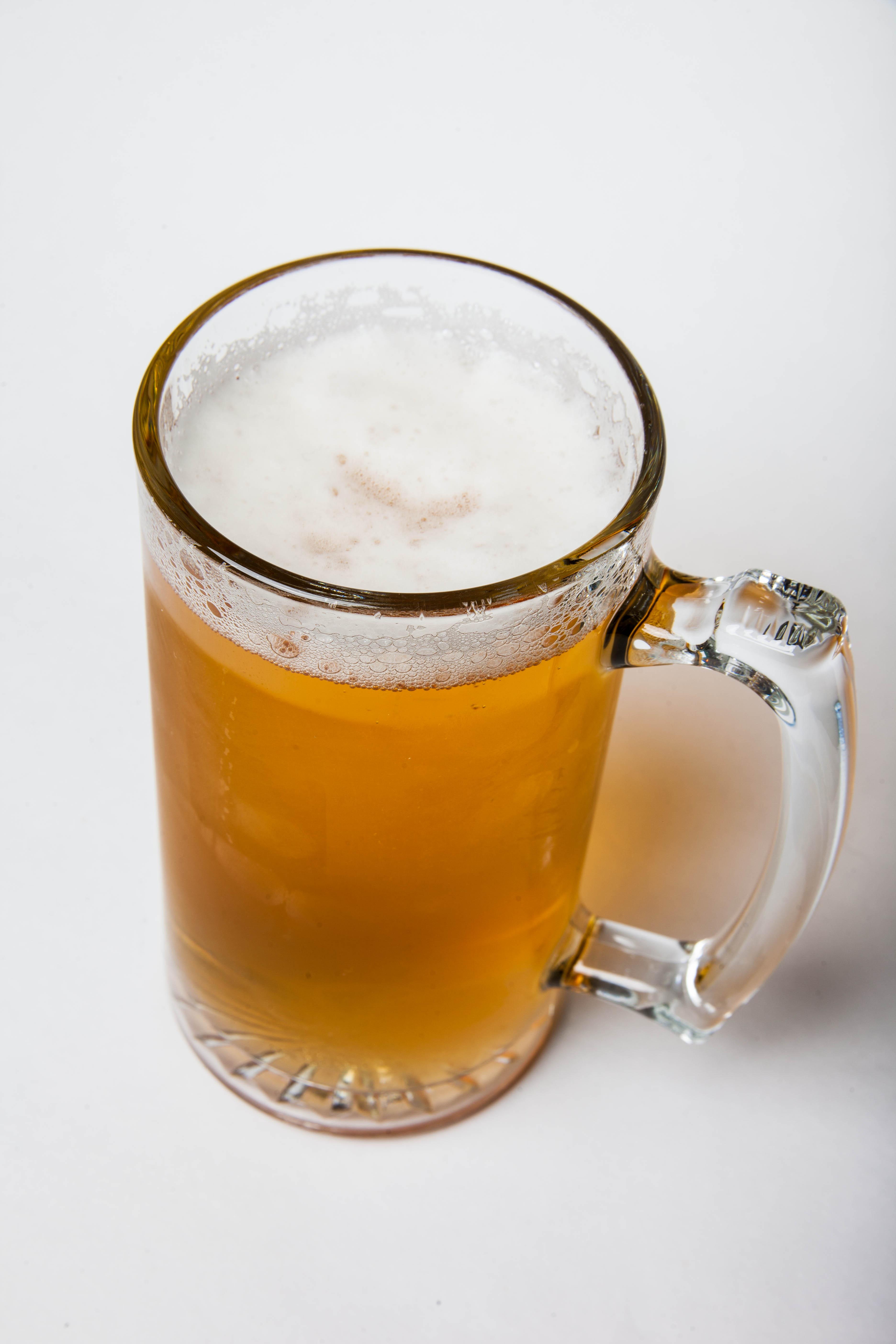 Beer mug isolated on white photo