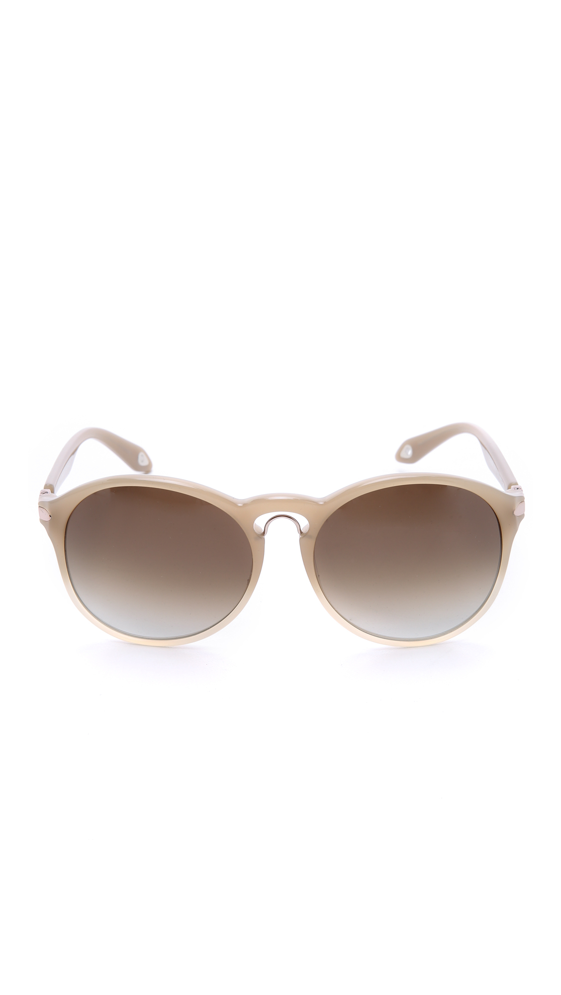 Lyst - Givenchy Metal Bridge Sunglasses in Natural
