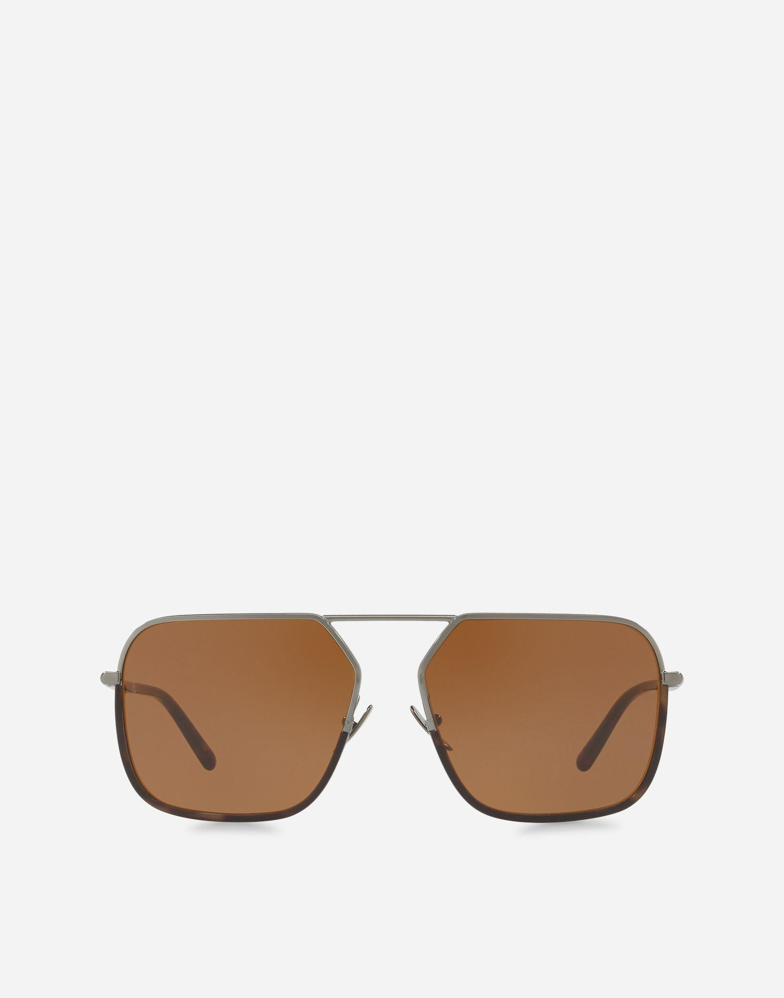 Lyst - Dolce & Gabbana Rectangular Sunglasses With Metal Bridge in ...