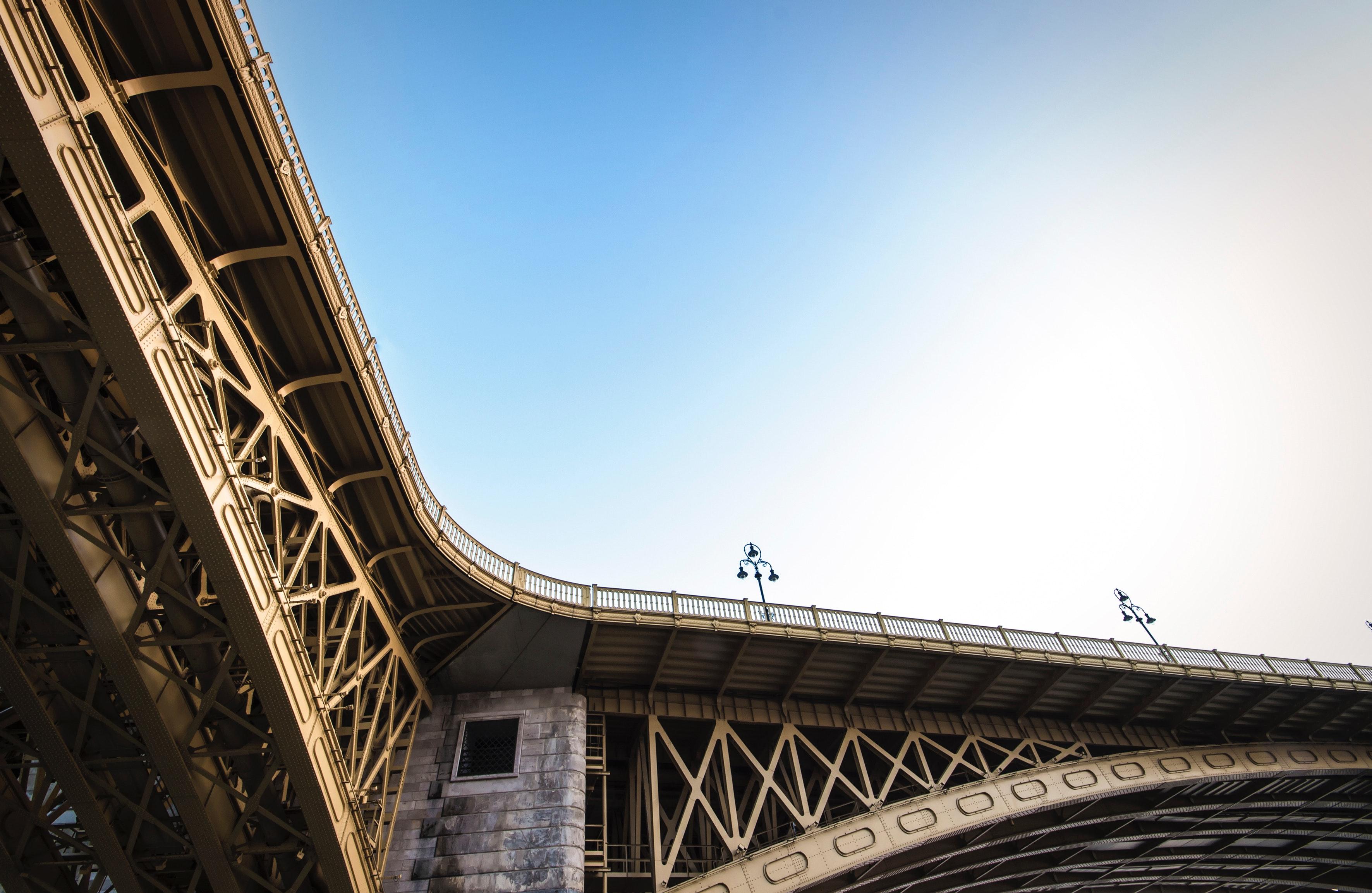 Beige metal bridge photo