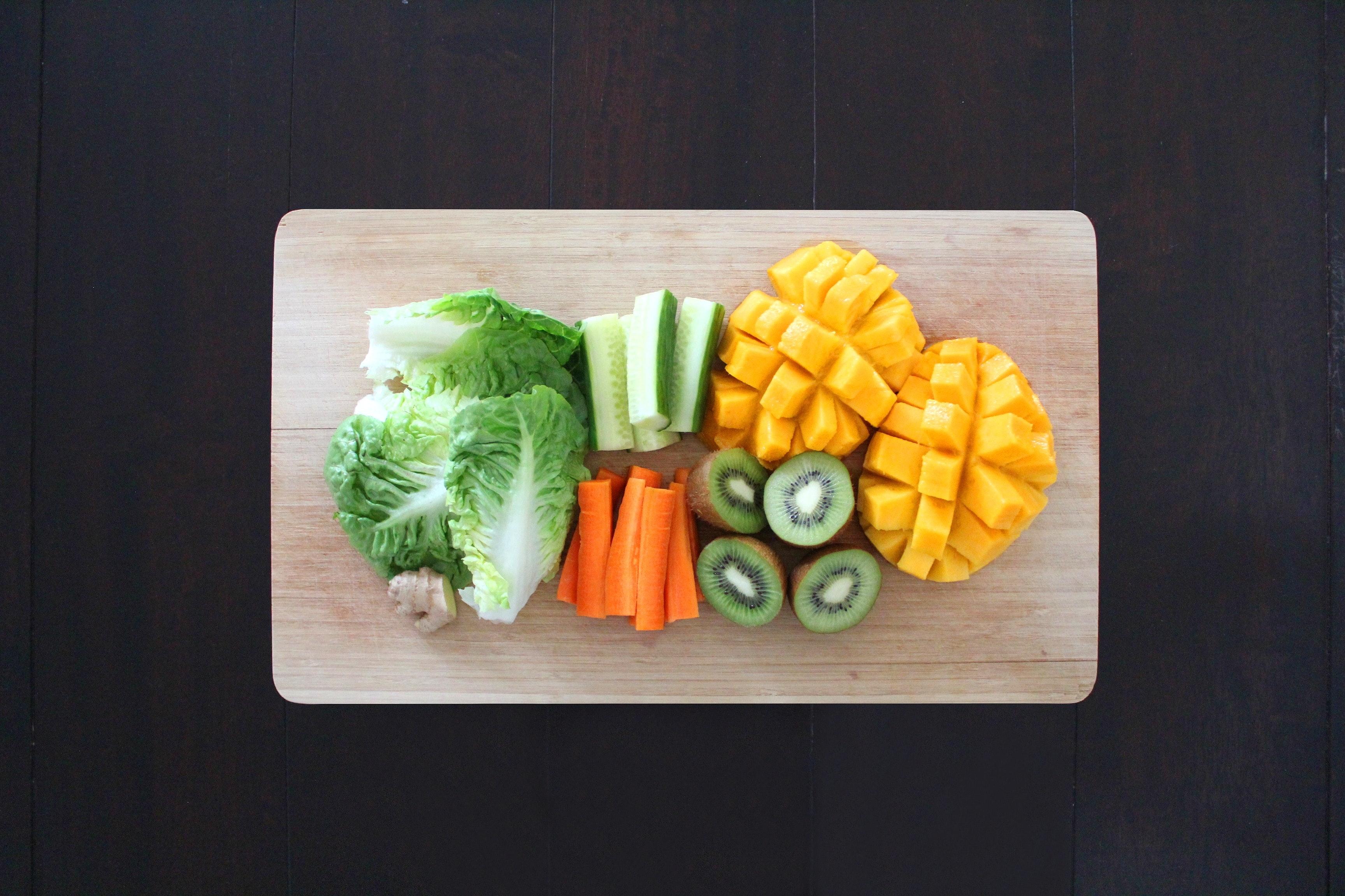 Beige Wooden Rectangular Chopping Board, Chopping board, Leaf, Wood, Vegetables, HQ Photo