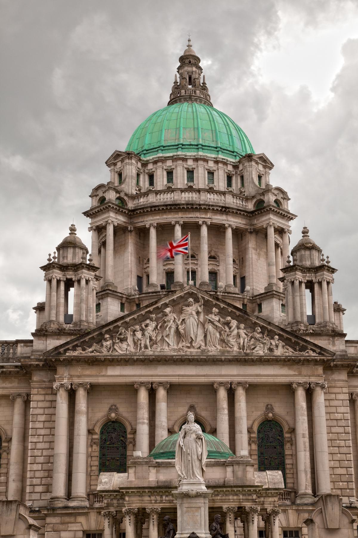 Belfast city hall - hdr photo
