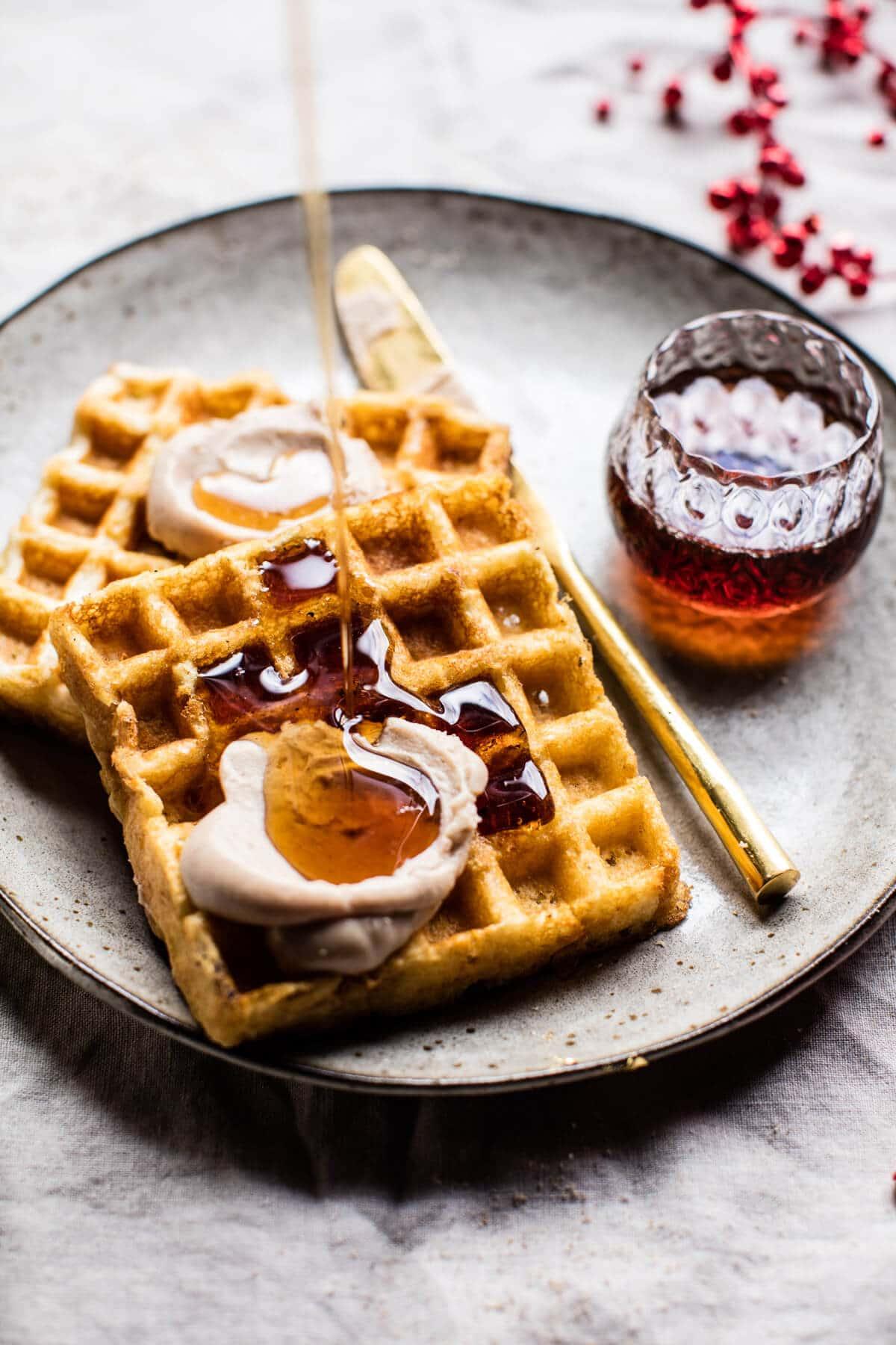 Crispy Belgian Waffles. - Half Baked Harvest
