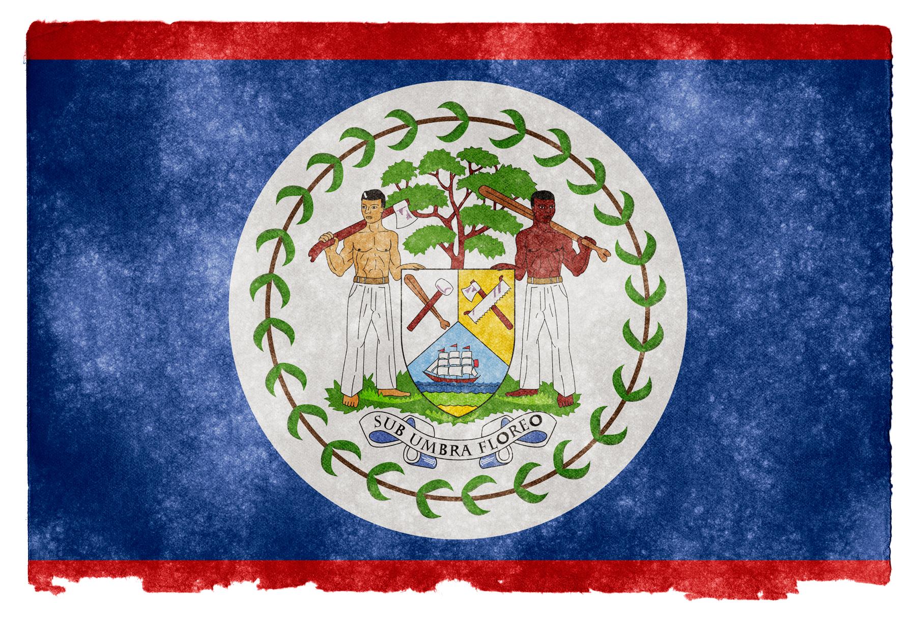 Belize grunge flag photo