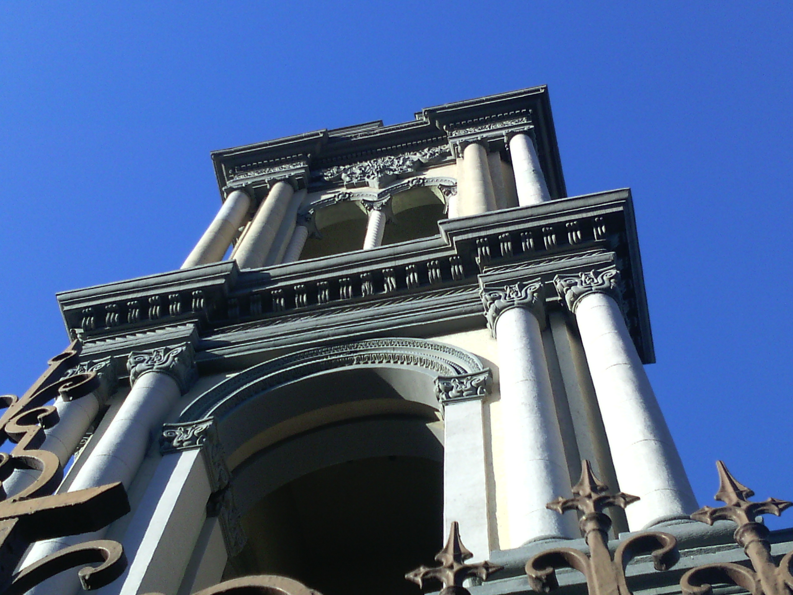 Bell tower mexican baroque photo