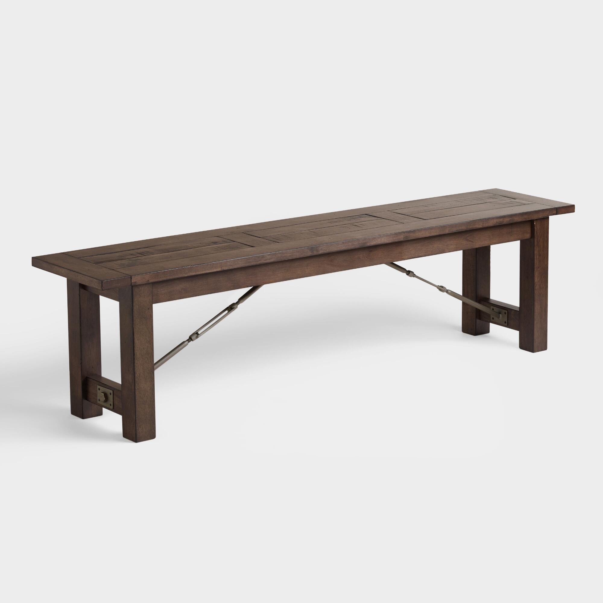 Wood Garner Dining Bench | World Market