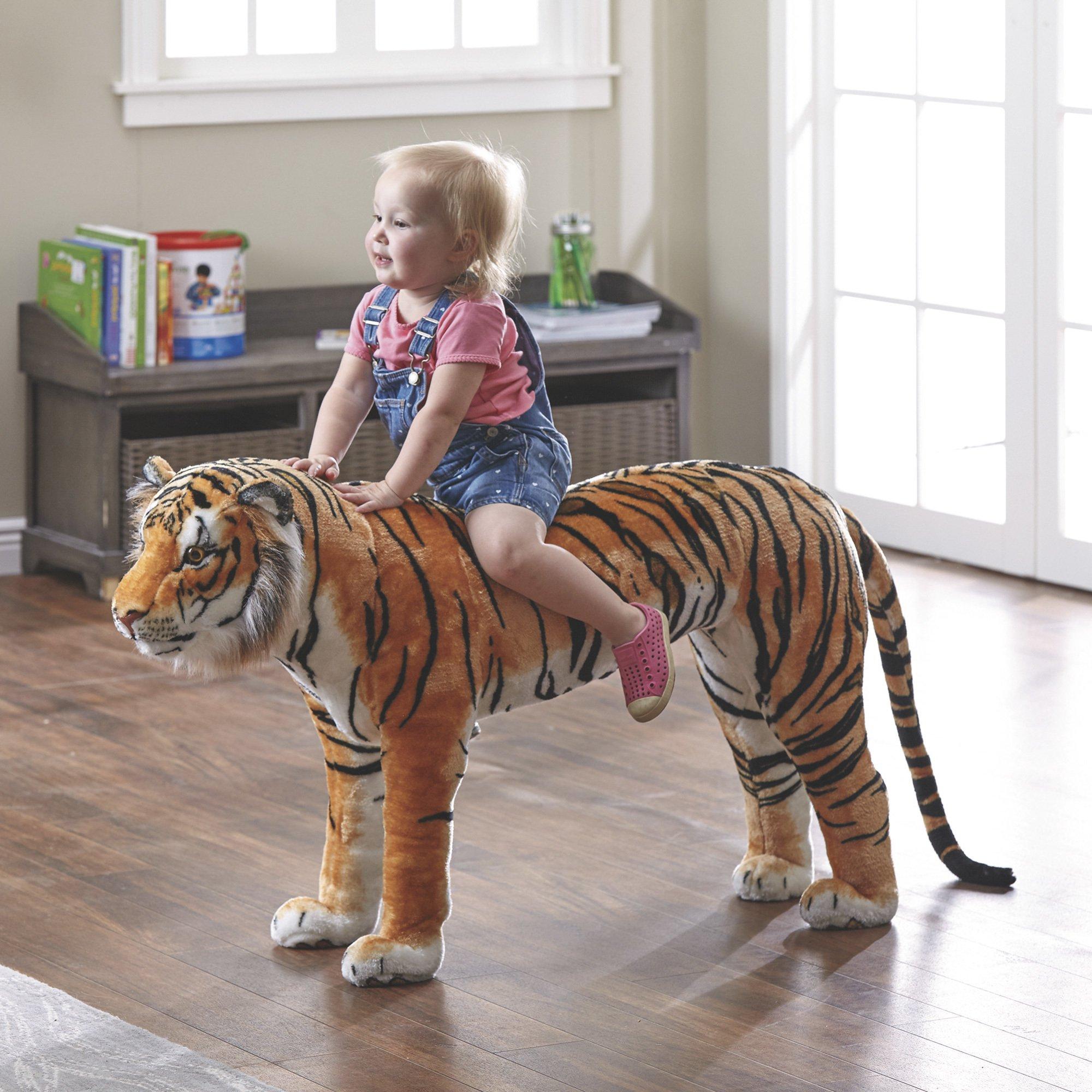Bengal Tiger Ride-On Oversized Stuffed Animal — 40in. | www.kotulas ...