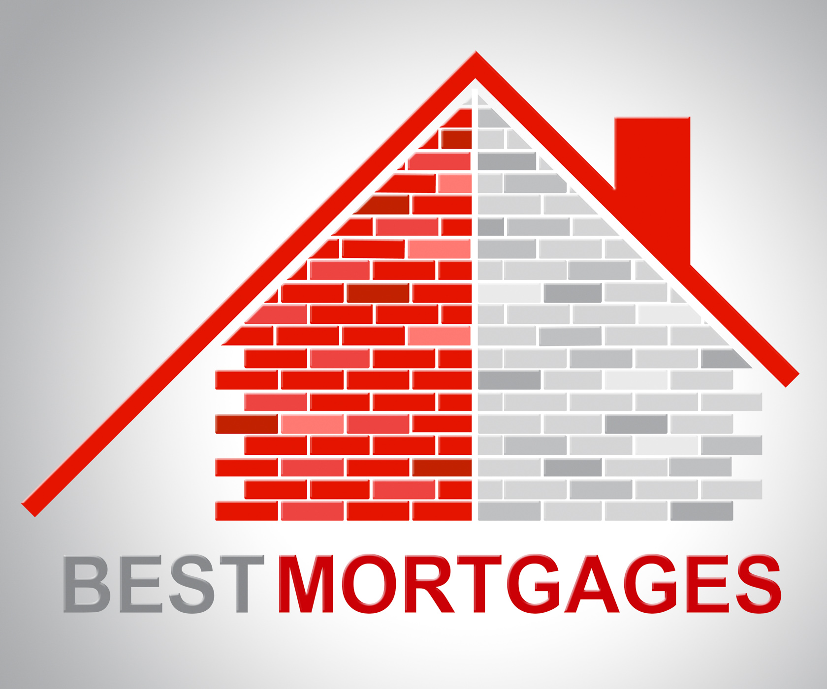 Best mortgages represents real estate and better photo
